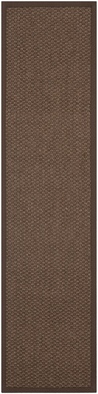 Greene Sisal Chocolate Area Rug Rug Size: Runner 2' x 8'