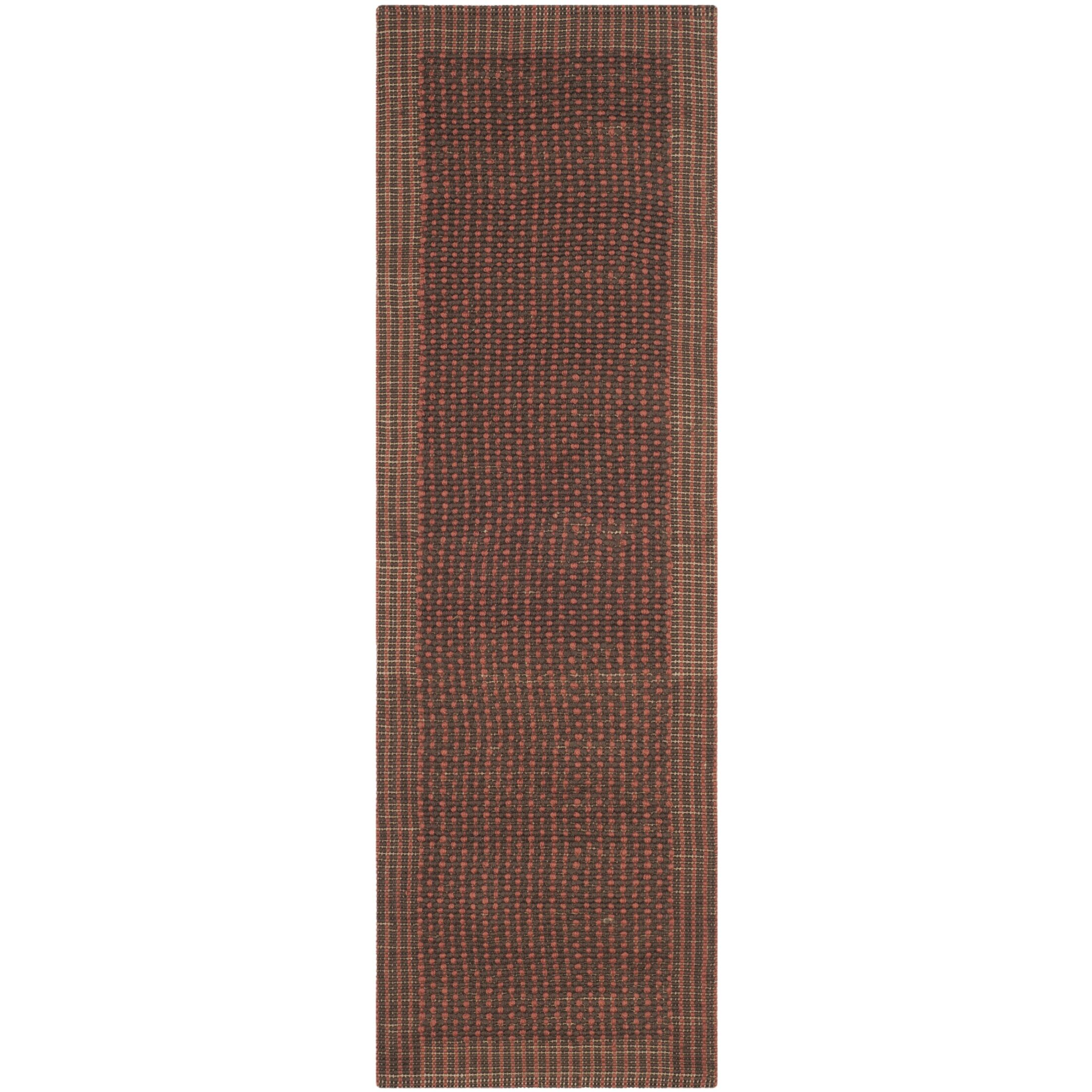 Greene Contemporary Brown/Rust Area Rug Rug Size: Rectangle 4' x 6'