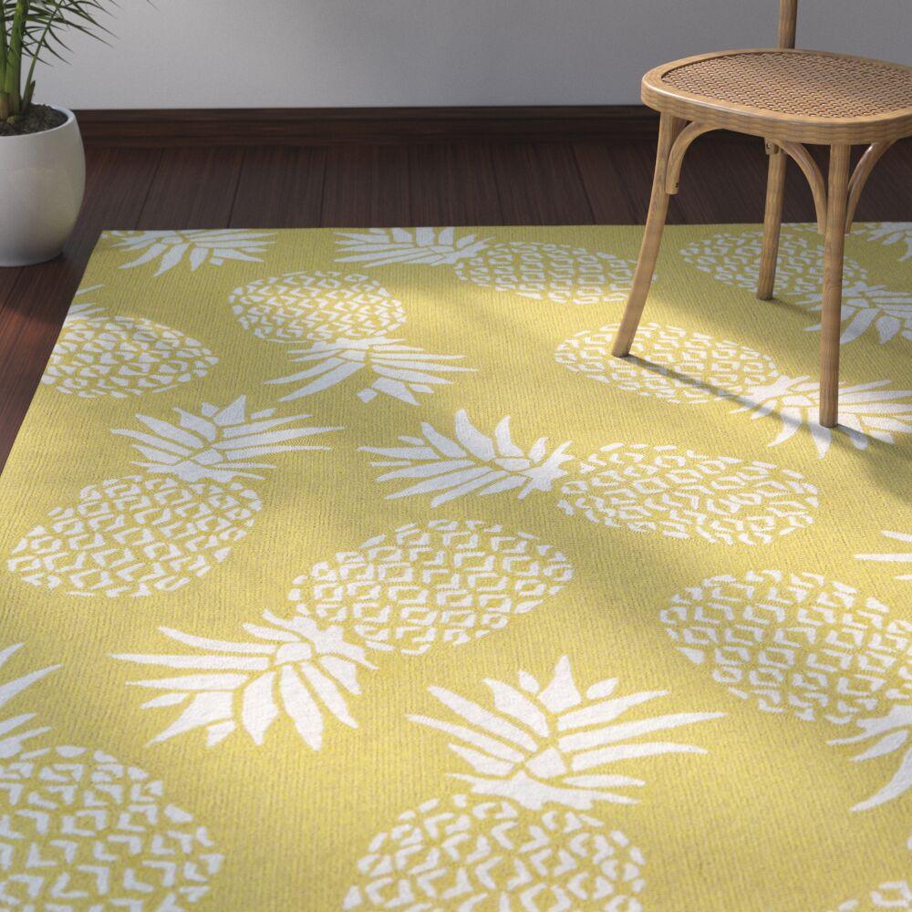 Brianna Handmade Gold Indoor/Outdoor Area Rug Rug Size: Rectangle 5' x 7'6