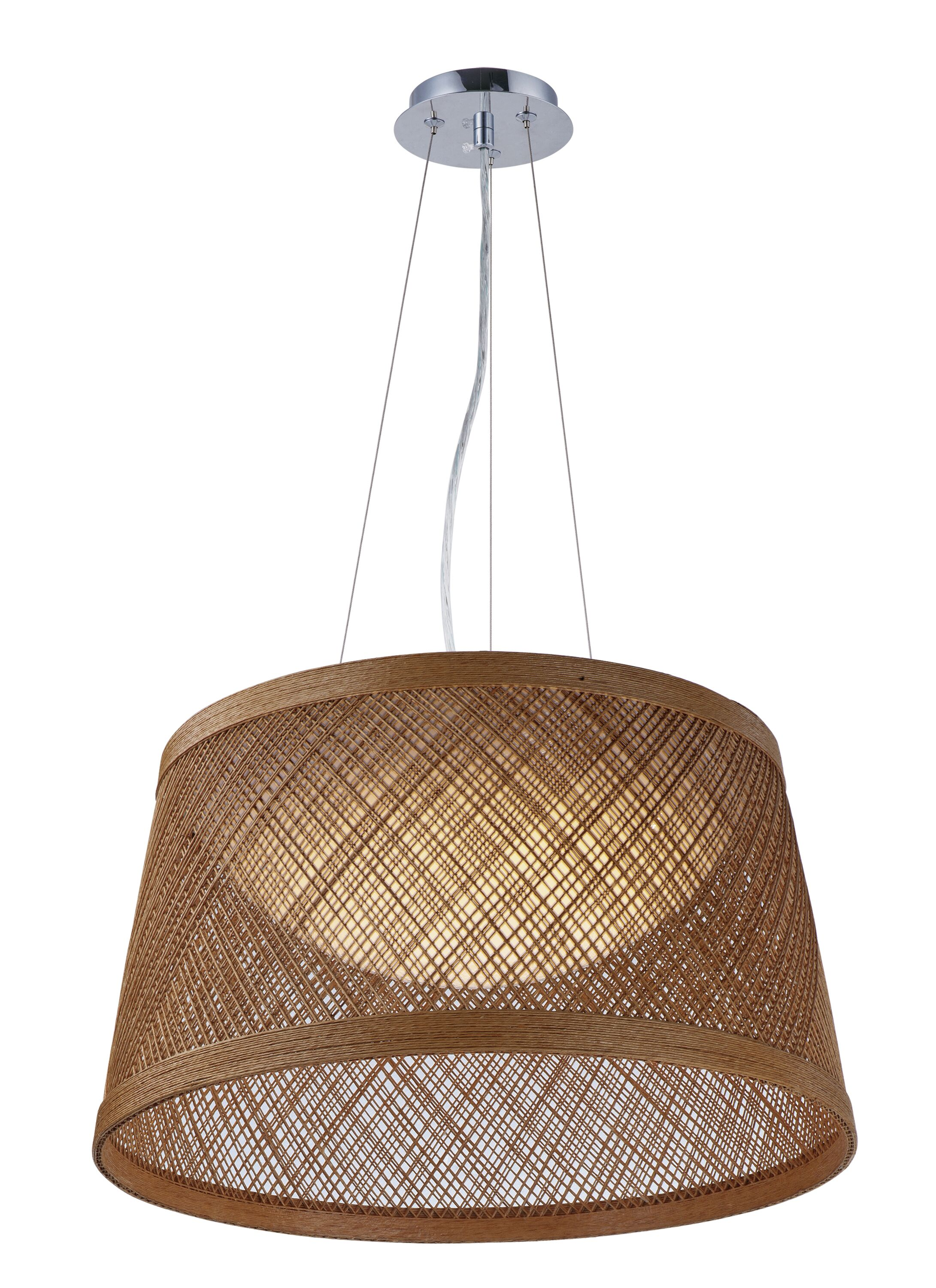 Carlisle 1-Light Cone Pendant Color: Natural