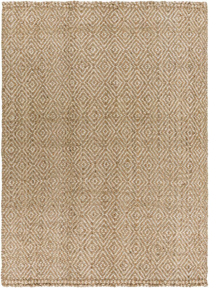 Annalee Hand-Woven Cream/Tan Area Rug Rug Size: Rectangle 10' x 14'