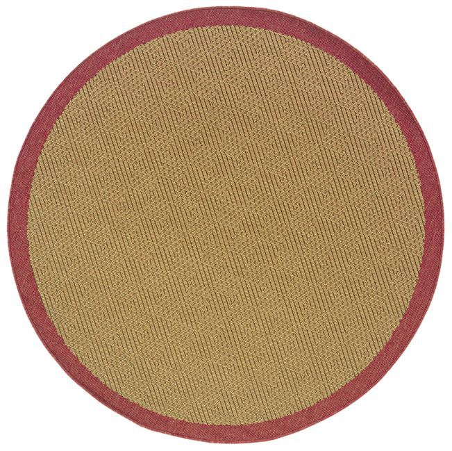 Goldenrod Brown Area Rug Rug Size: Round 7'10