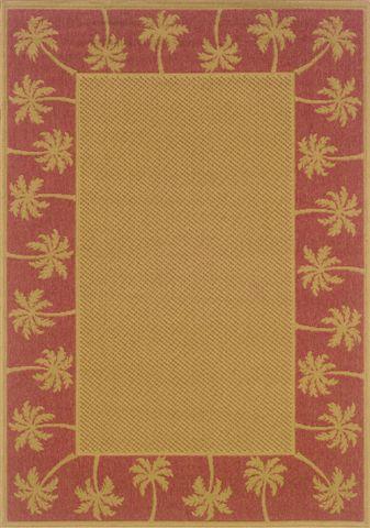 Goldenrod Beige/Red Indoor/Outdoor Area Rug Rug Size: Rectangle 3'7