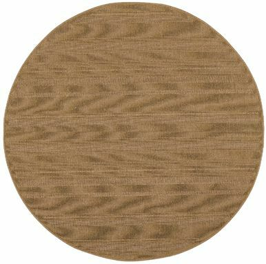 Goldenrod Tan Indoor/Outdoor Area Rug Rug Size: Round 7'10