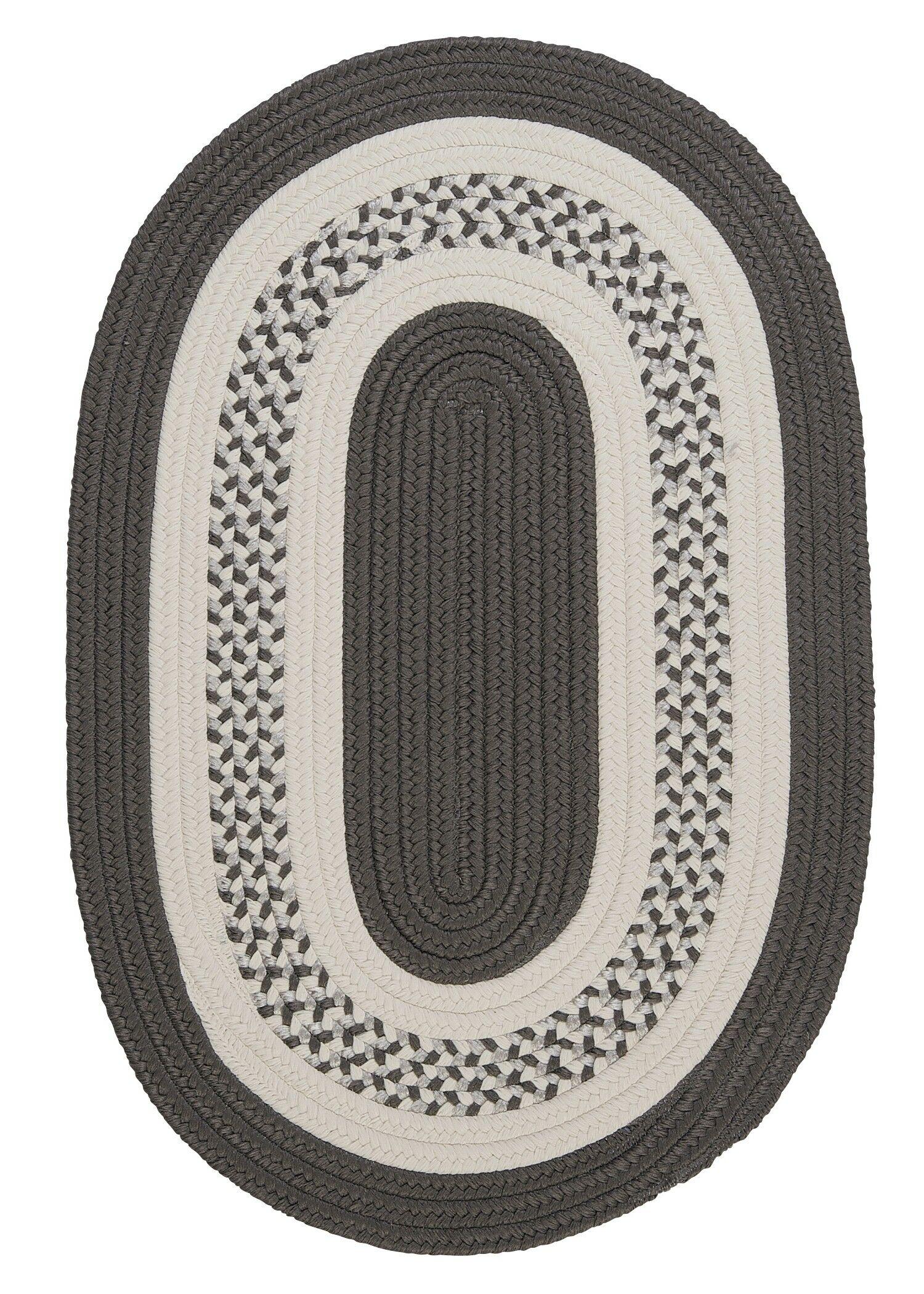 Rockport Gray Indoor/Outdoor Rug Rug Size: Oval Runner 2' x 6'