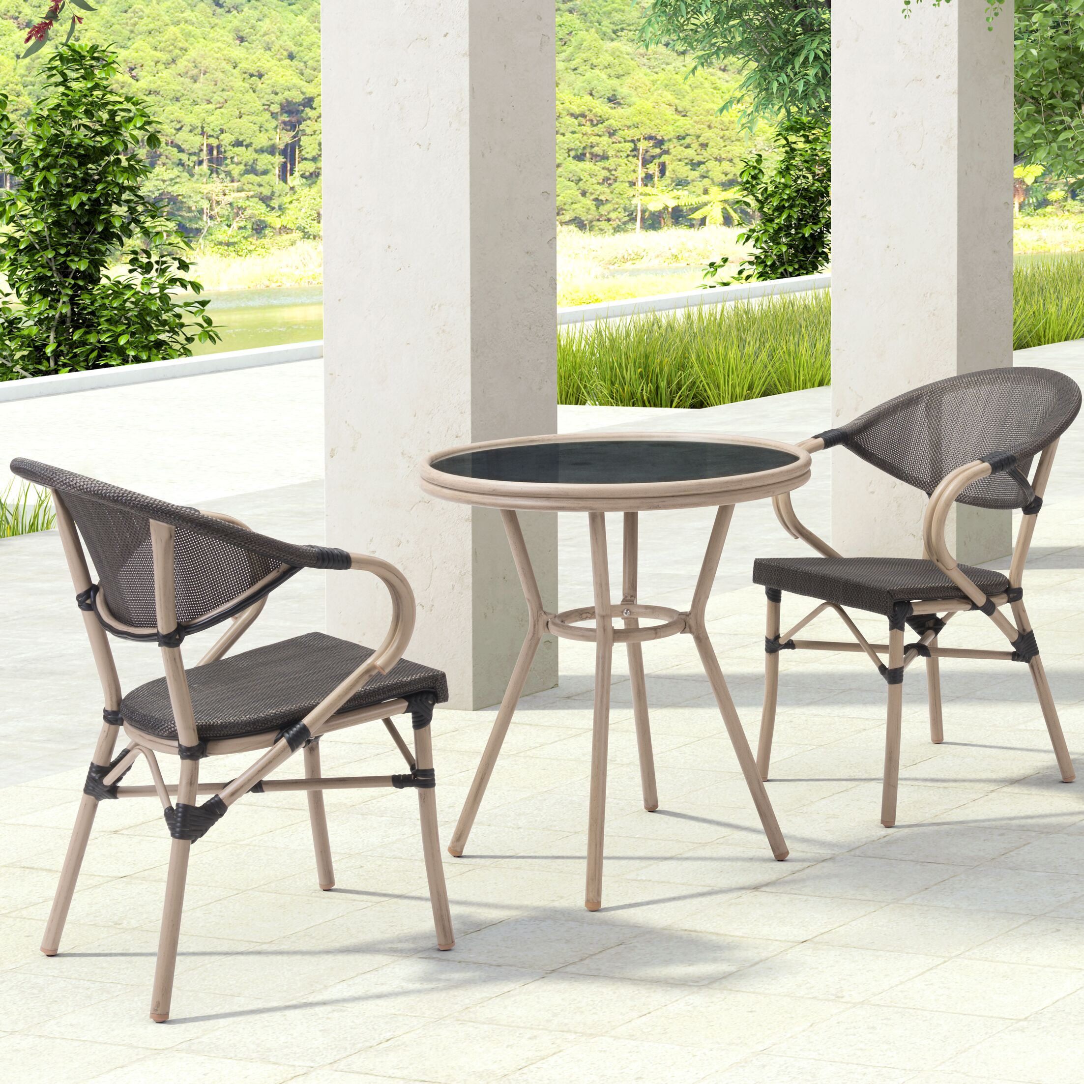 Gainesville 3 Piece Dining Set