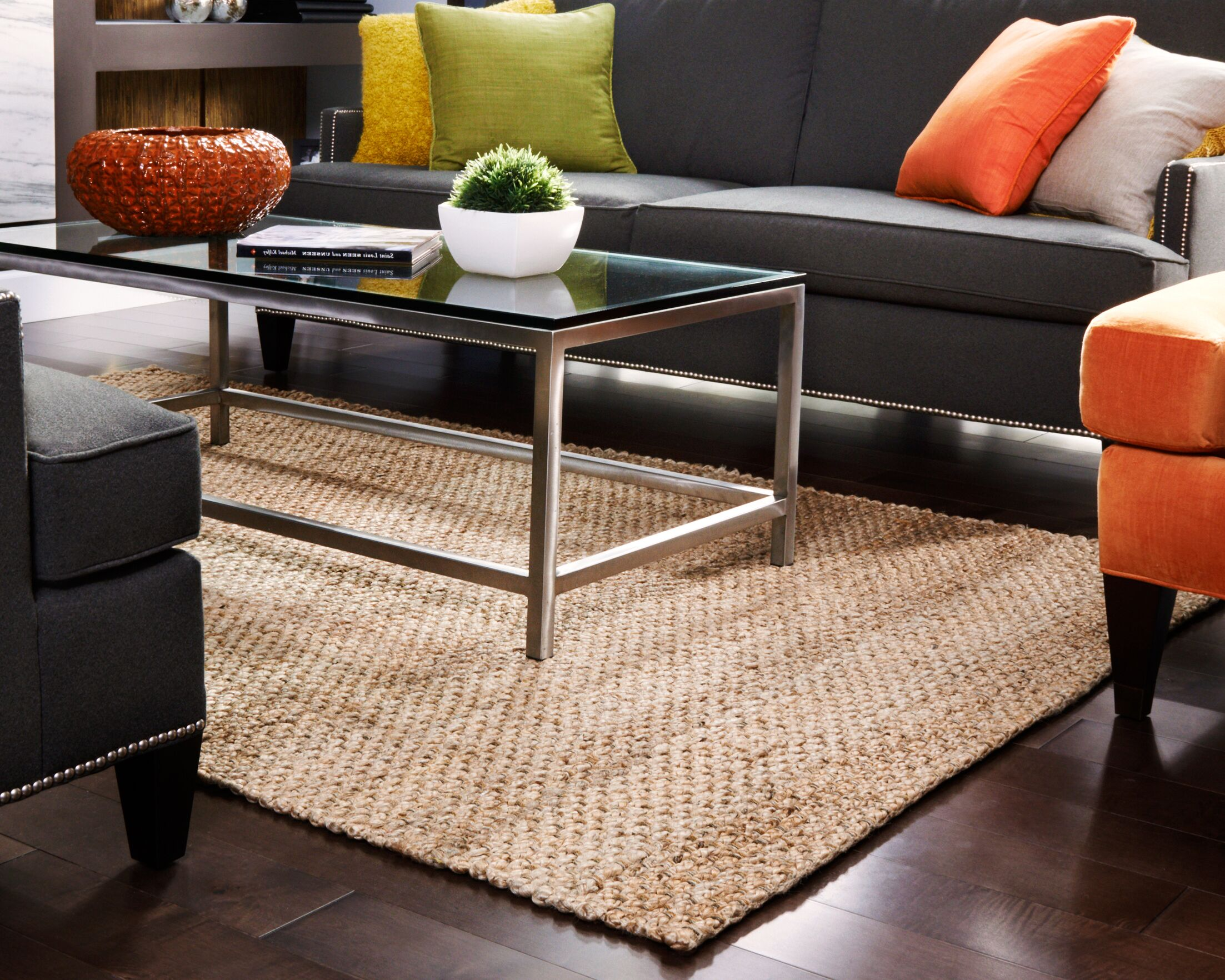 Nohemi Hand-Woven Brown Area Rug Rug Size: 4' x 6'
