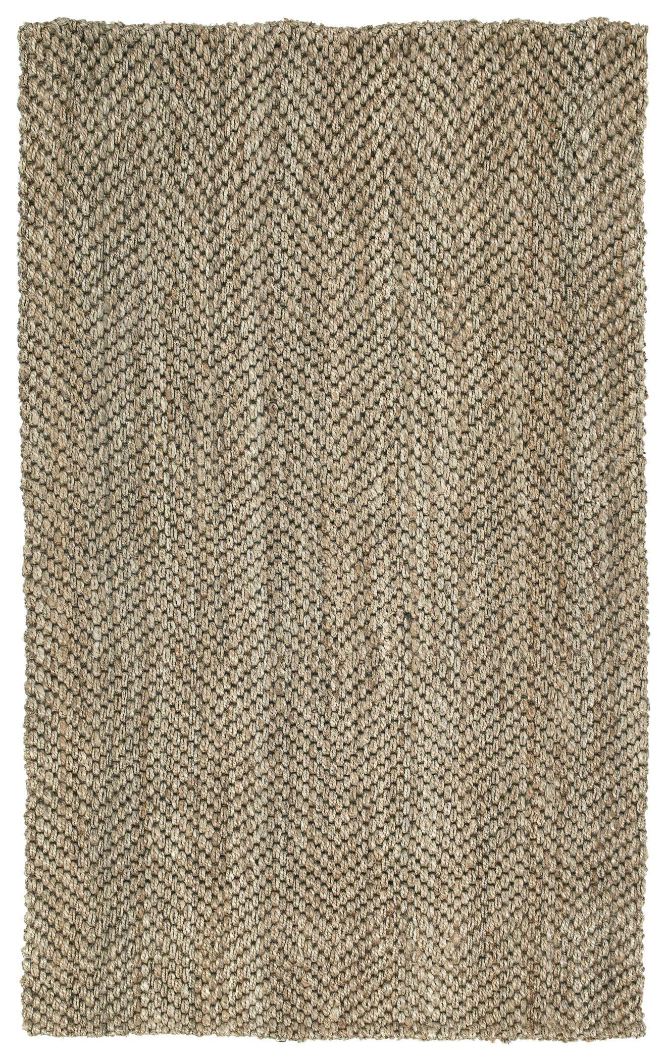 Rose Herringbone Brown Area Rug Rug Size: Rectangle 4' x 6'