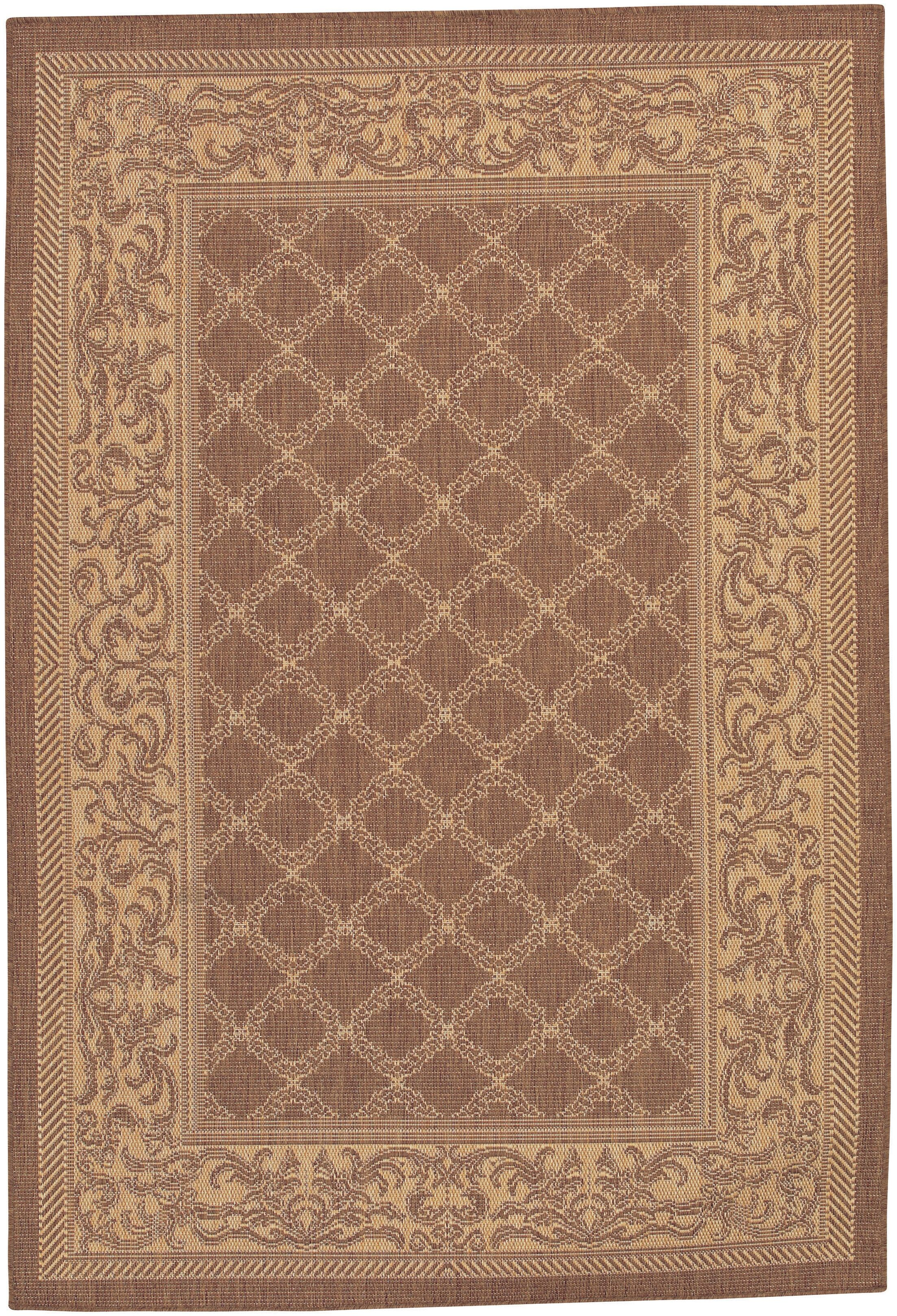 Celia Cocoa/Natural Indoor/Outdoor Area Rug Rug Size: Rectangle 8'6