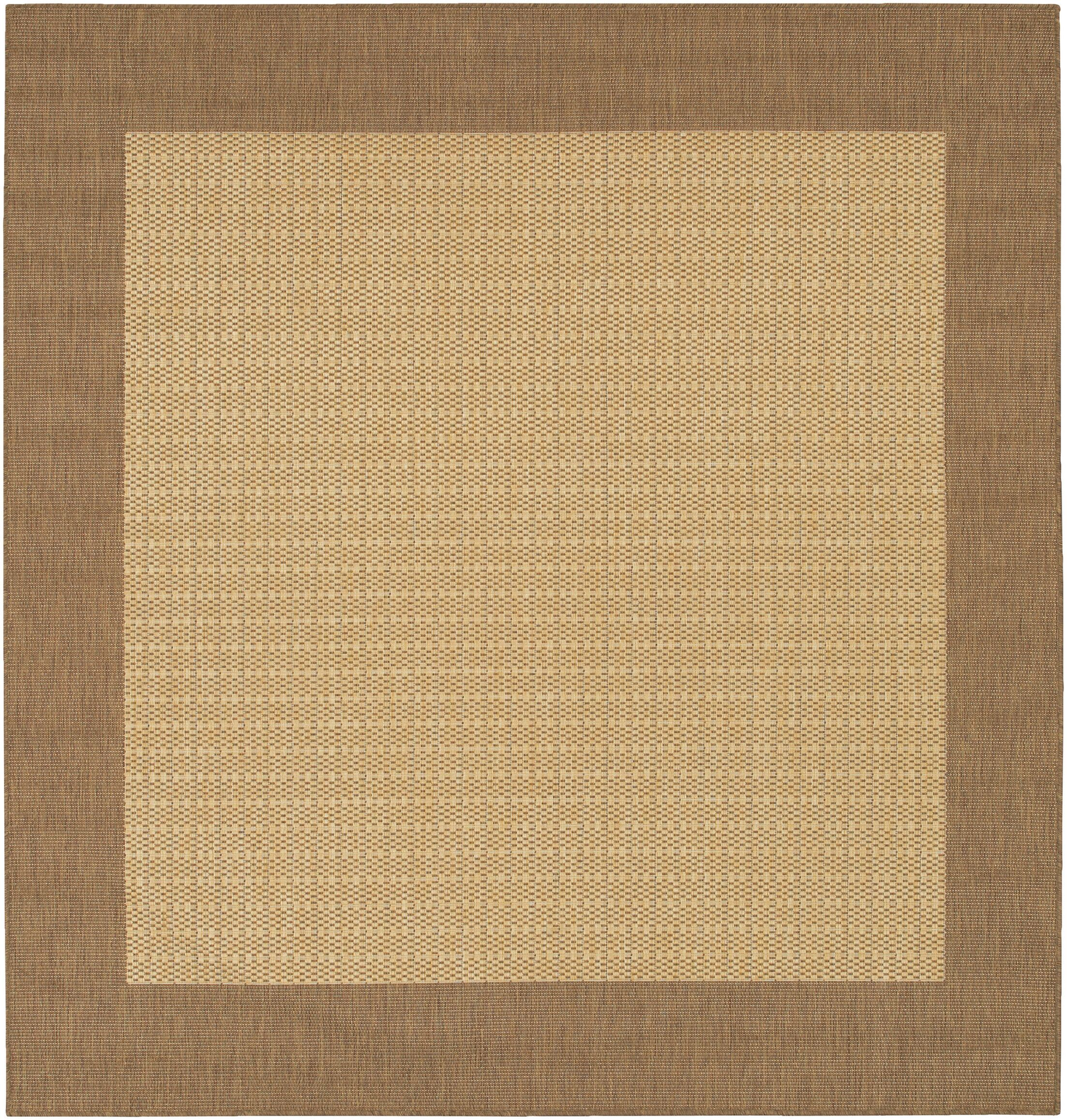 Celia Cocoa/Natural Indoor/Outdoor Area Rug Rug Size: Square 7'6