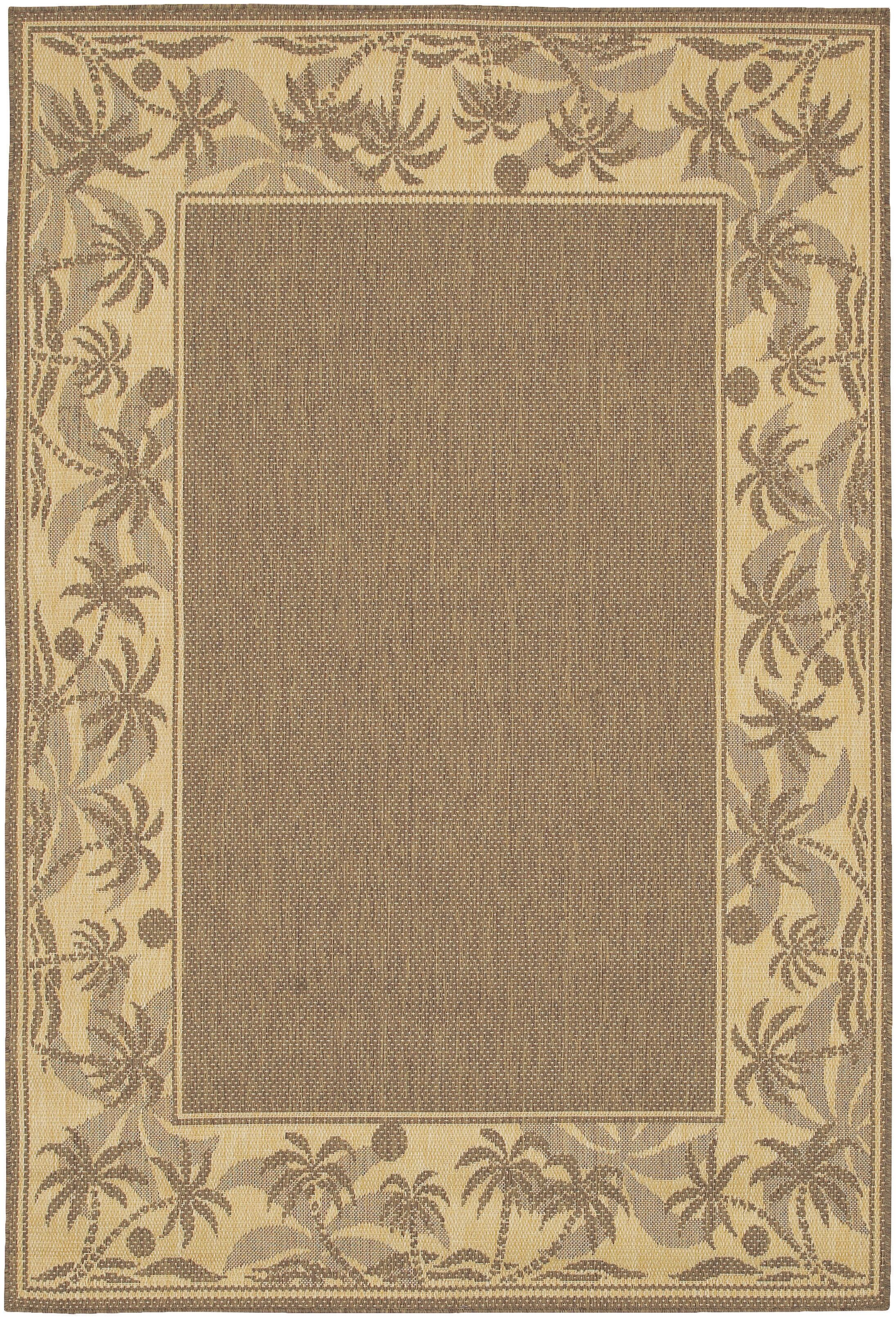 Julia Beige/Brown Indoor/Outdoor Area Rug Rug Size: Rectangle 8'6