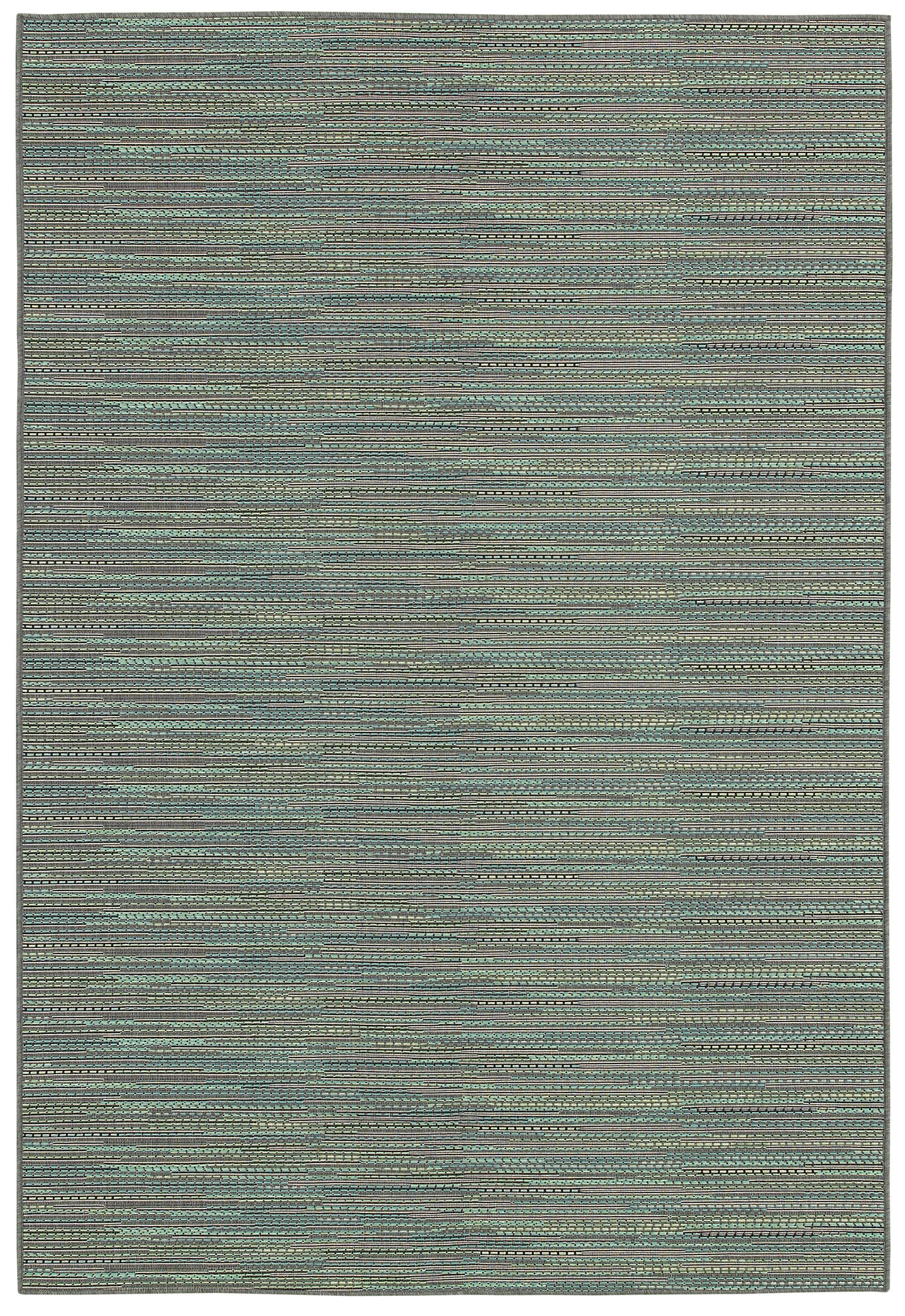 Kayden Blue Indoor/Outdoor Area Rug Rug Size: Rectangle 7'6