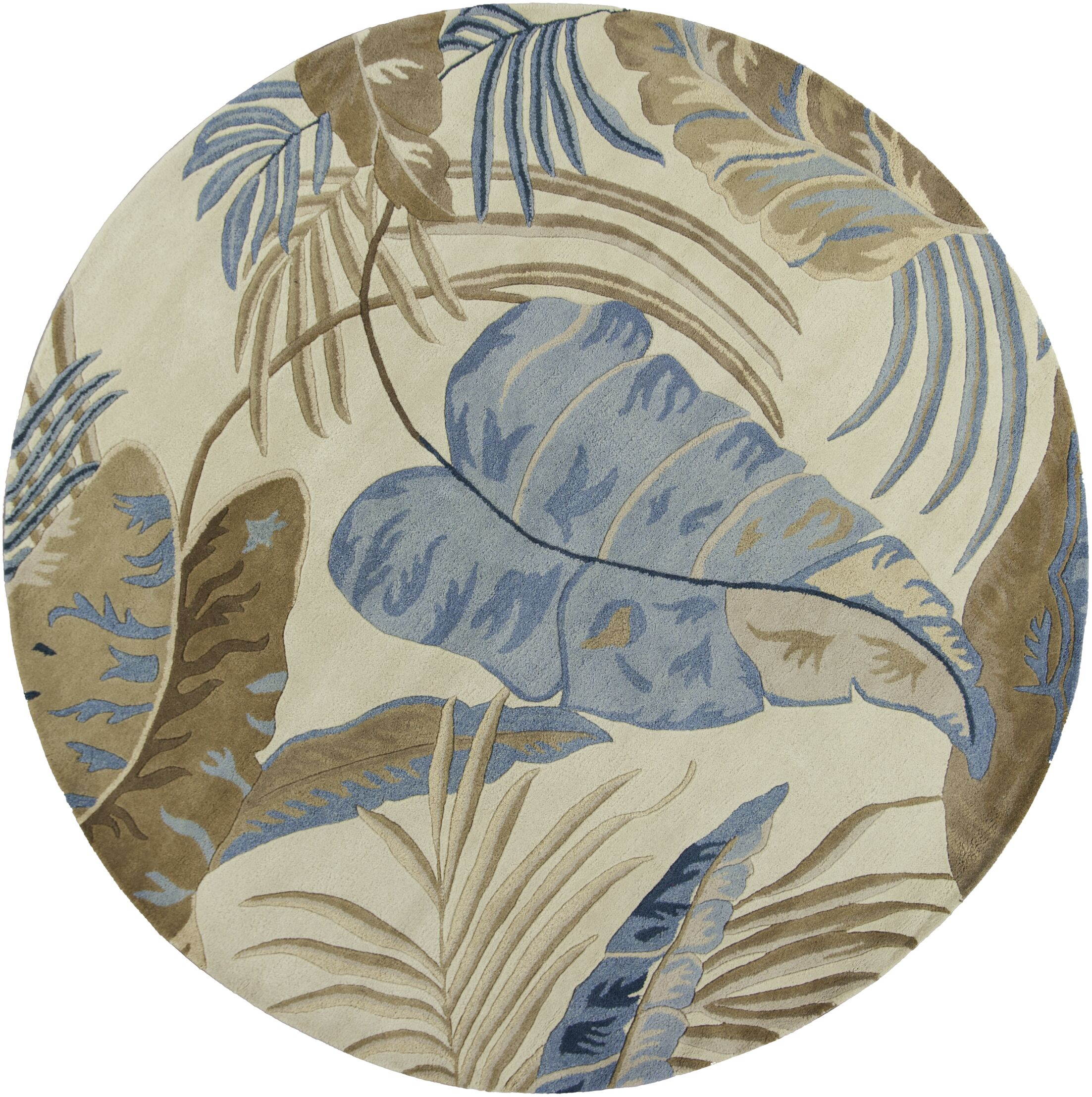 Delview Rainforest Plants Area Rug Rug Size: Round 7'6