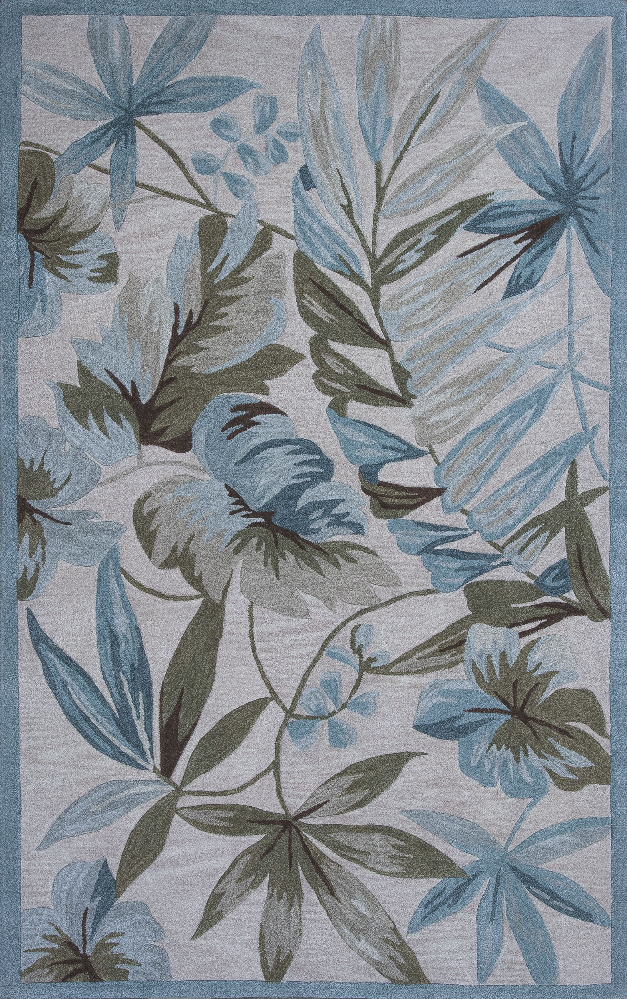 Roselawn Ivory Tropica Area Rug Rug Size: Rectangle 5' x 7'6