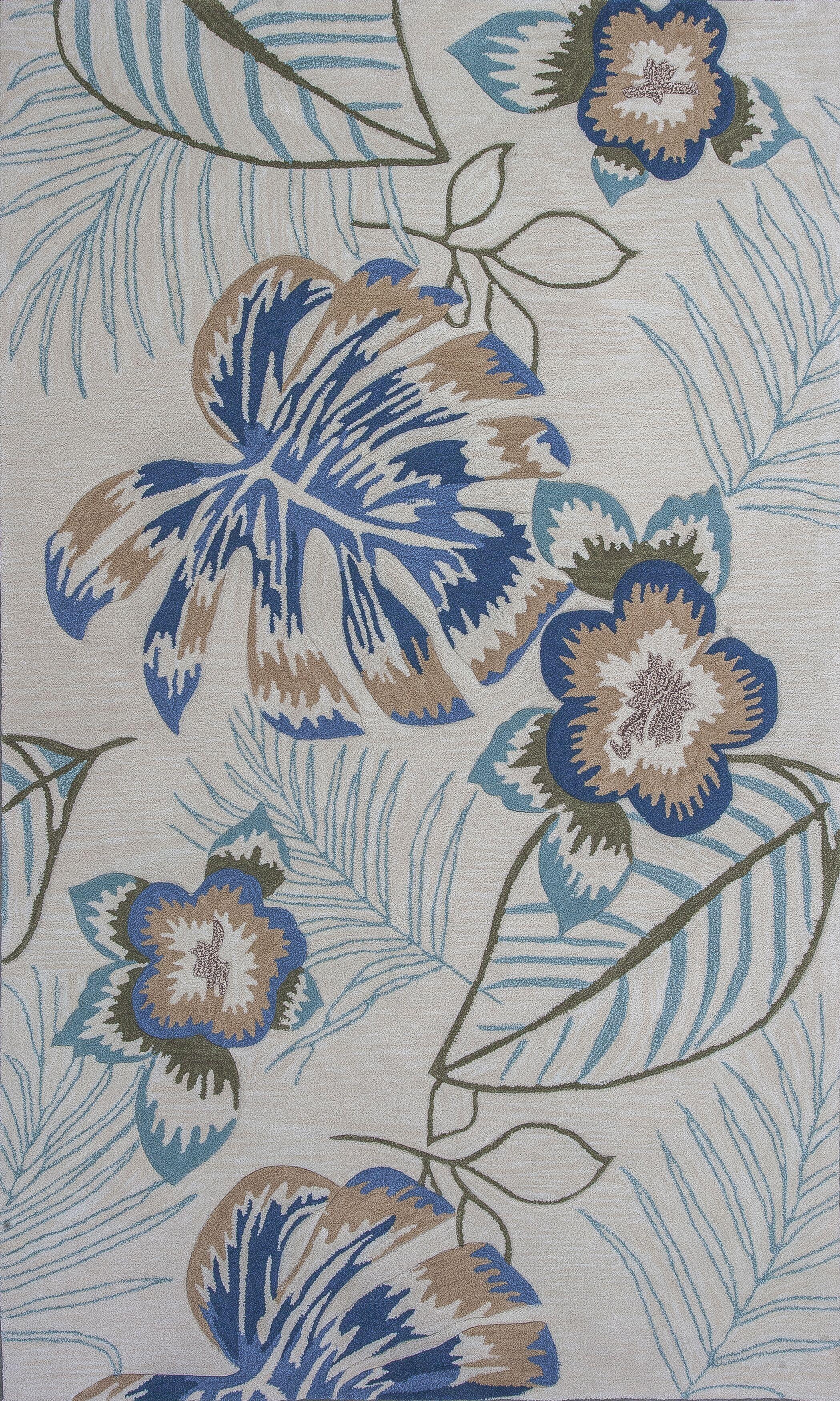 Roselawn Ivory Maui Area Rug Rug Size: Rectangle 8' x 10'6