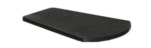 Alanna Plastic Side Table Color: Black