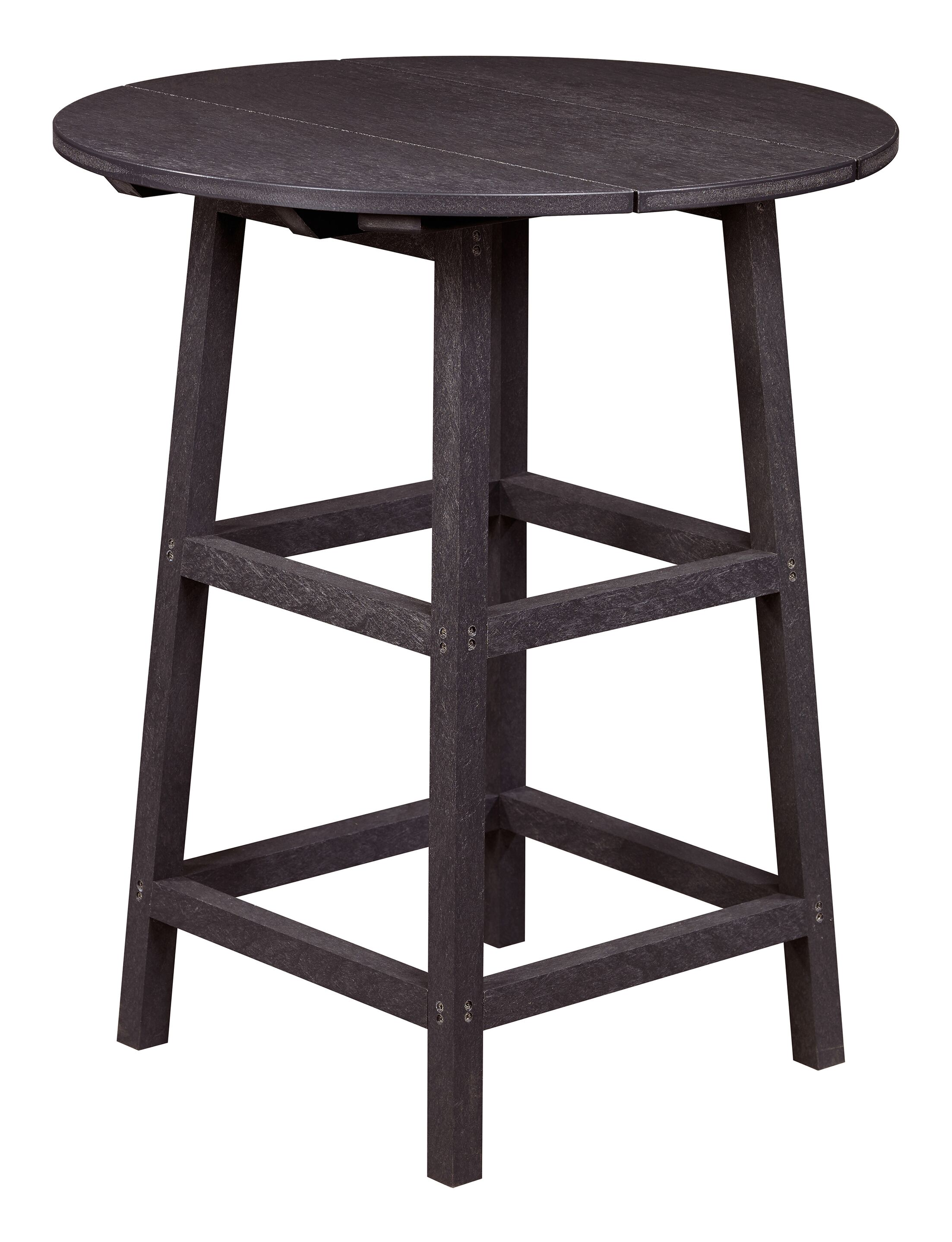 Kratochvil Plastic Bistro Table Color: Espresso, Table Size: 43