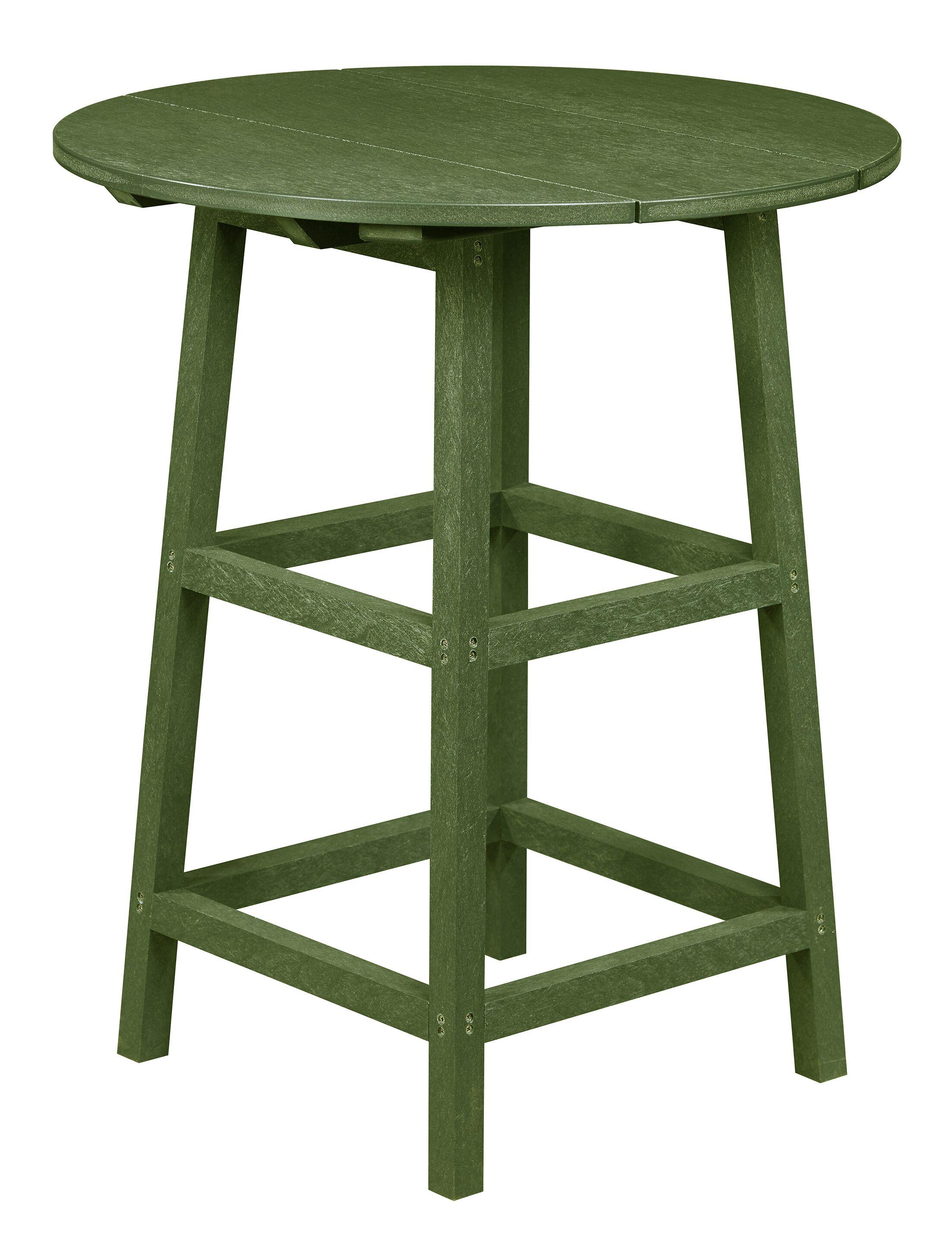 Kratochvil Plastic Bistro Table Color: Cactus Green, Table Size: 43