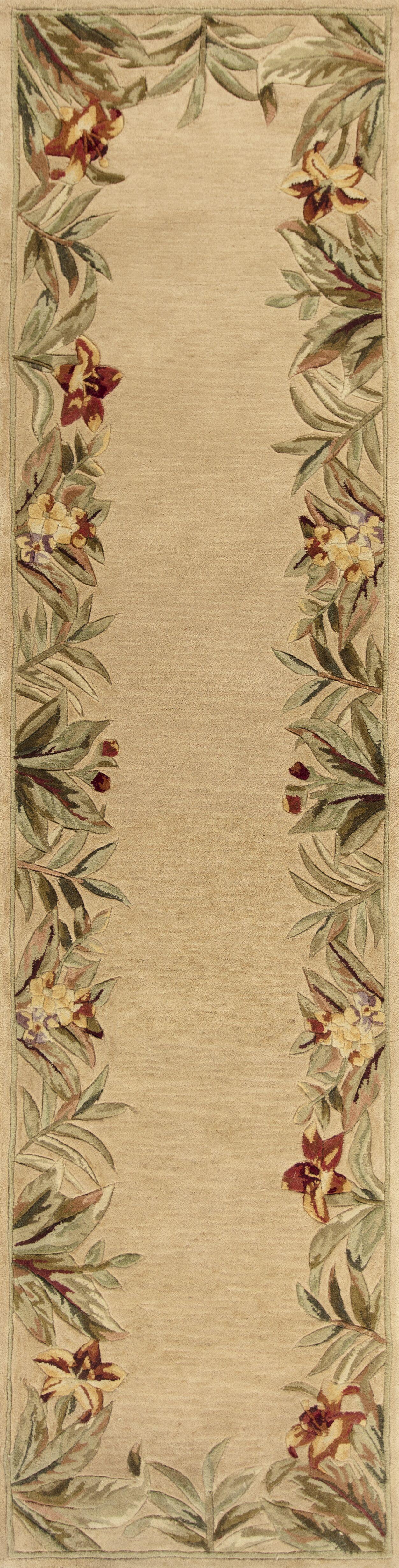 Murray Beige Rainforest Floral Area Rug Rug Size: Rectangle 3'6