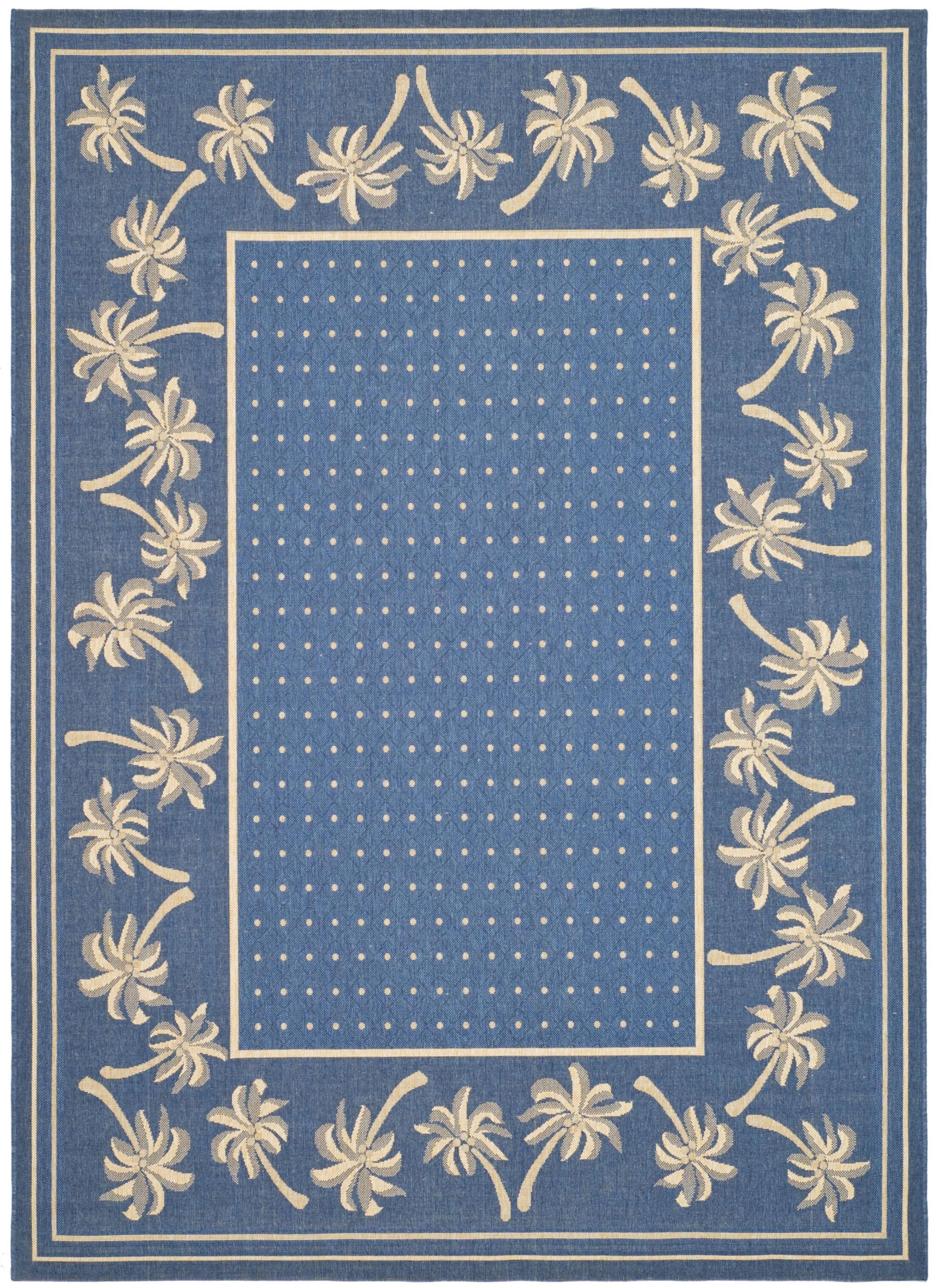 Romola Blue/ Indoor/Outdoor Rug Rug Size: Rectangle 5'3