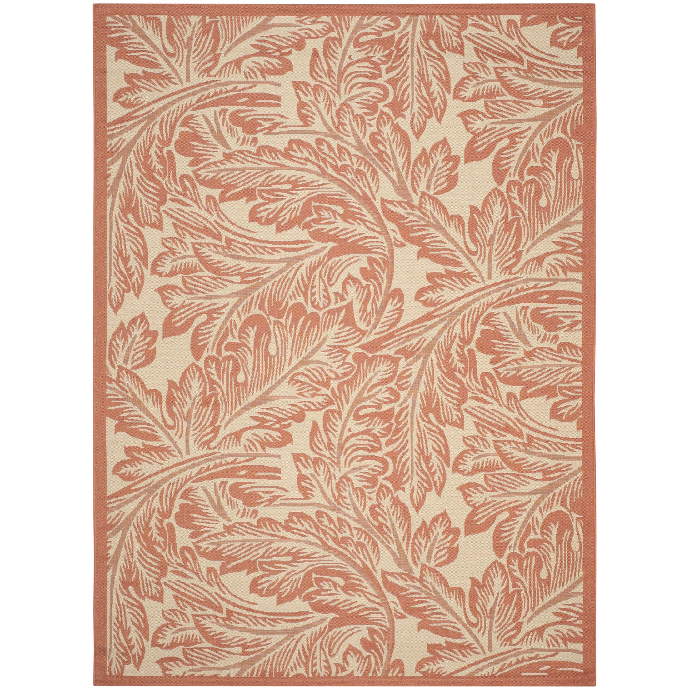 Amaryllis Natural/Terracotta Outdoor Area Rug Rug Size: Rectangle 6'7