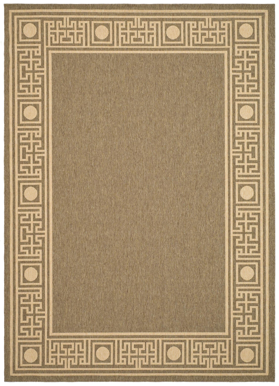Amaryllis Coffee/Sand Outdoor Rug Rug Size: Rectangle 6'7