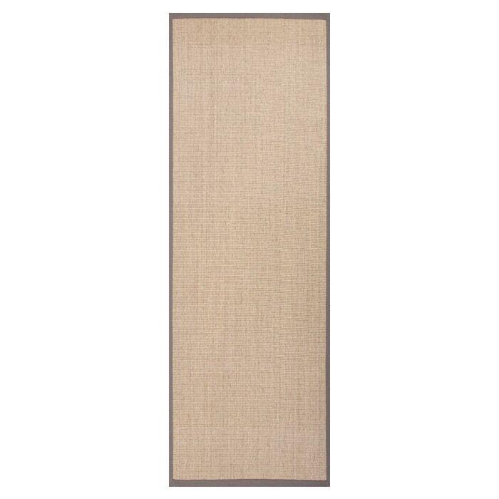 Mosqueda Plus Hand-Woven Beige/Brown Area Rug Rug Size: Runner 2'6