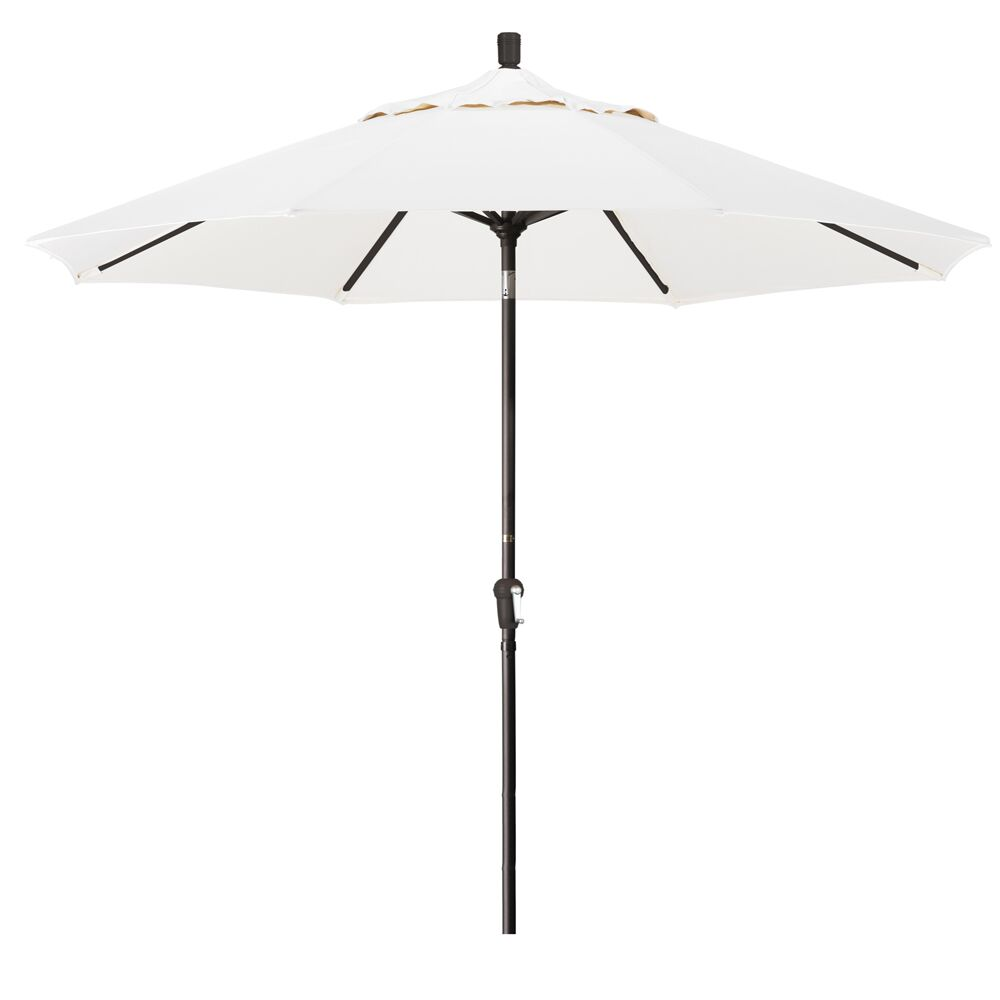 Priscilla 9' Market Umbrella Fabric Color: White, Frame Color: Champagne