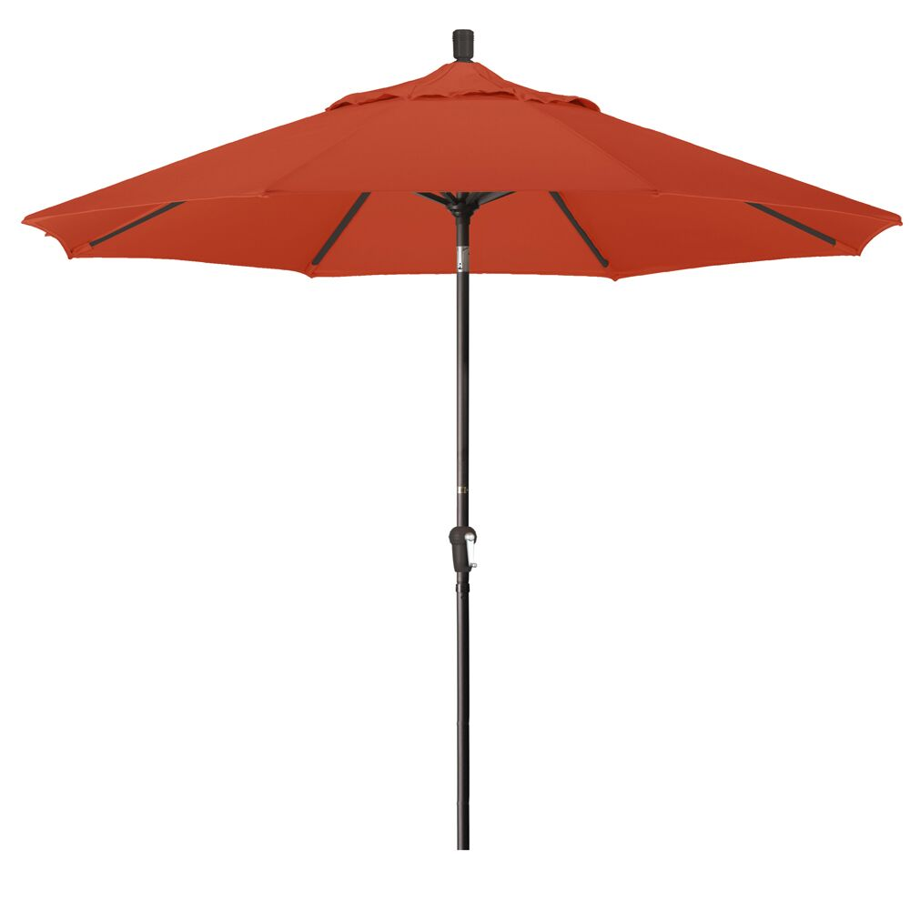 Priscilla 9' Market Umbrella Frame Color: Bronze, Fabric Color: Terracotta