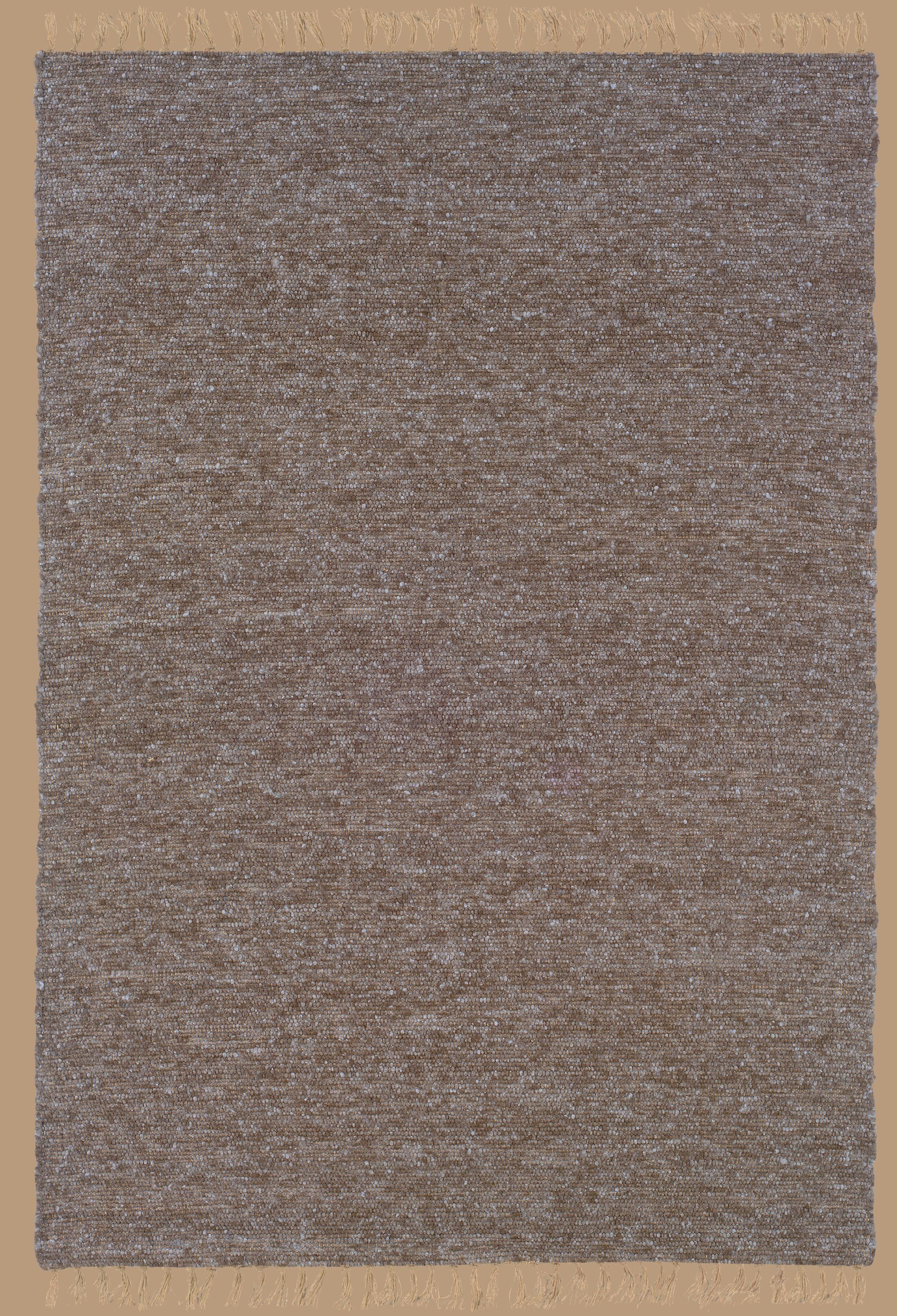 Landenberg Hand-Woven Brown/Blue Area Rug Rug Size: Rectangle 3'6