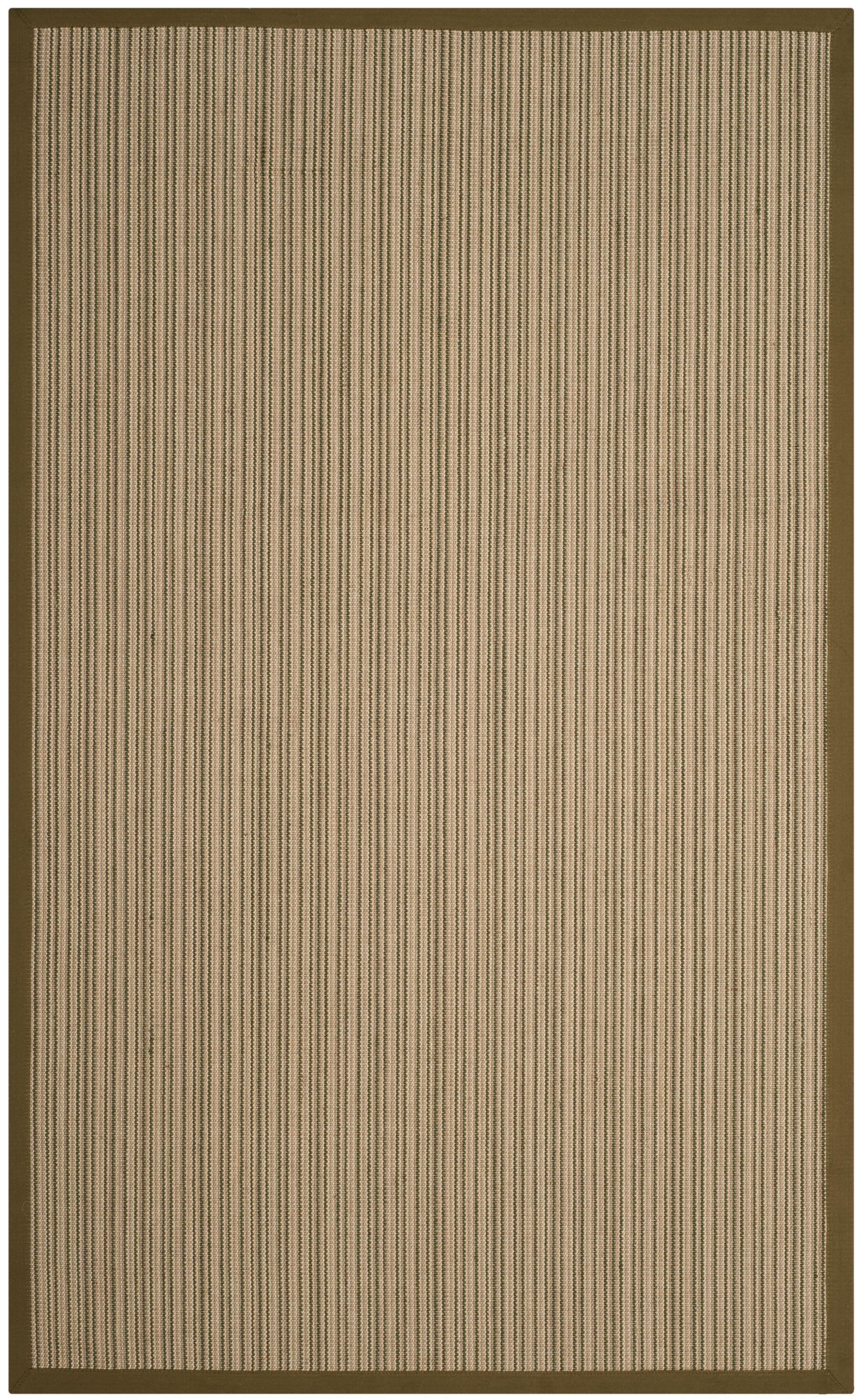 Nonatum Fiber Green Area Rug Rug Size: Rectangle 4' x 6'