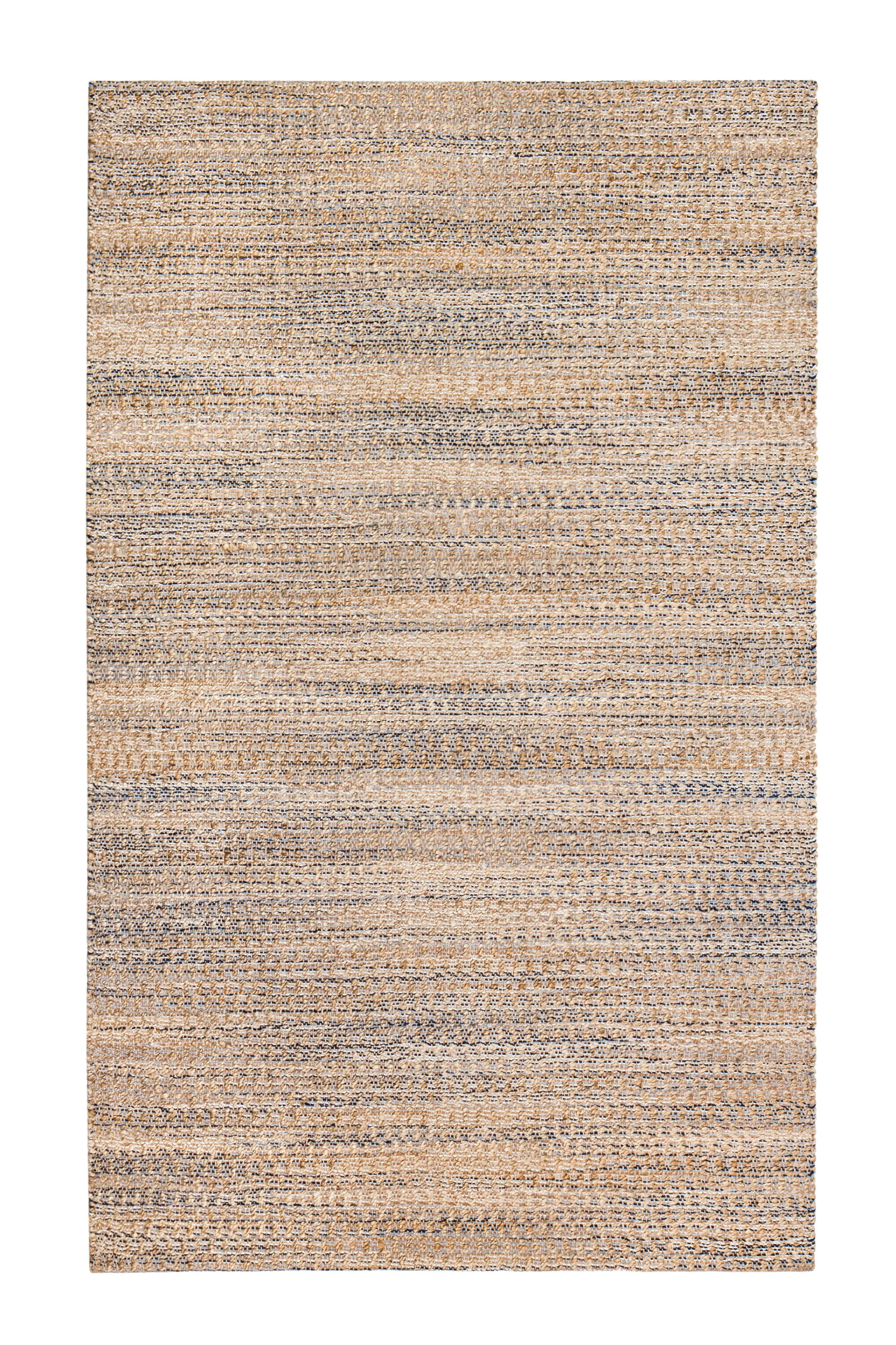 Lynn Haven Hand-Woven Tan/Ivory/Blue Area Rug Rug Size: 8' x 10'