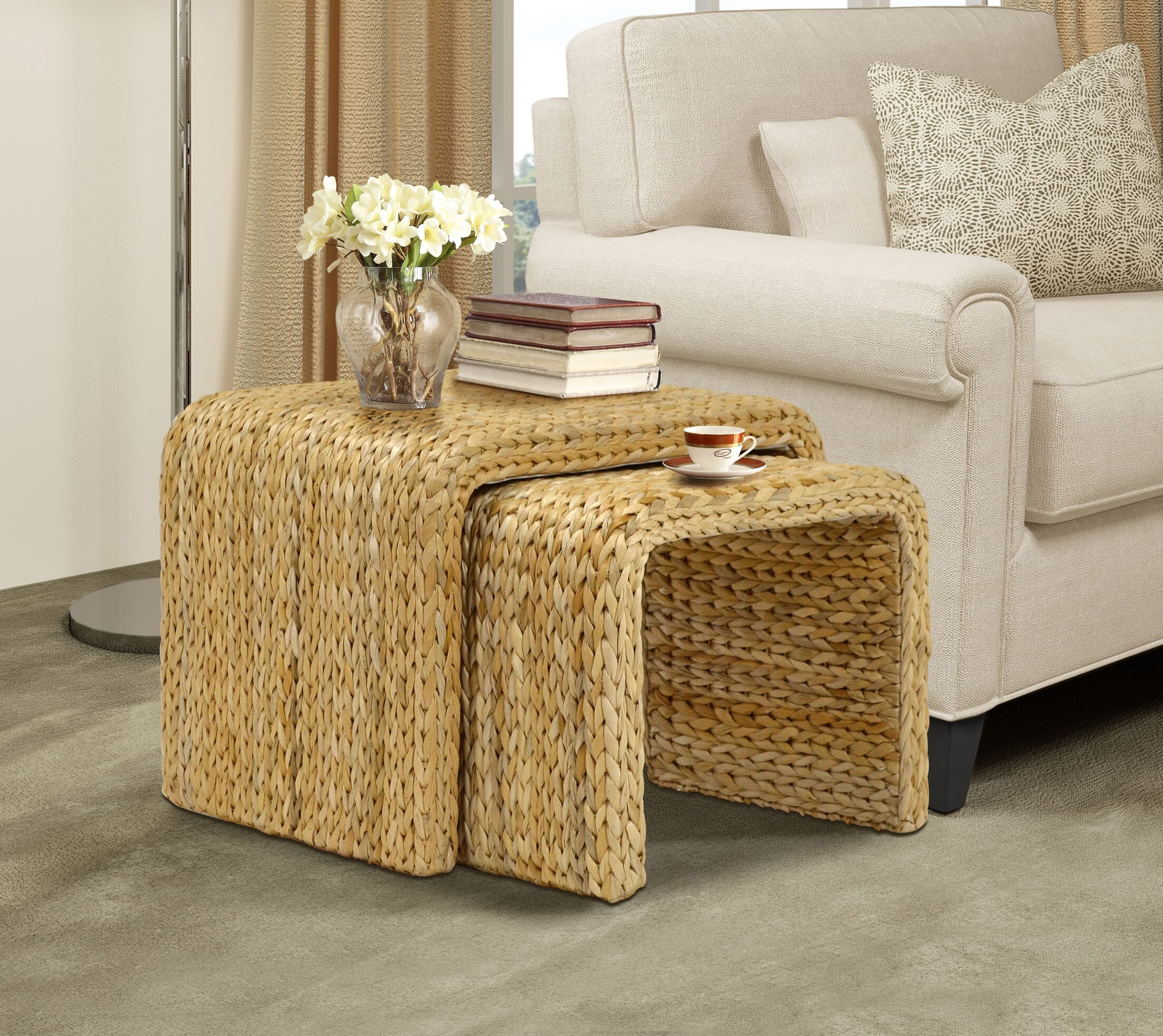 Nobles 2 Piece Nesting Tables Color: Natural