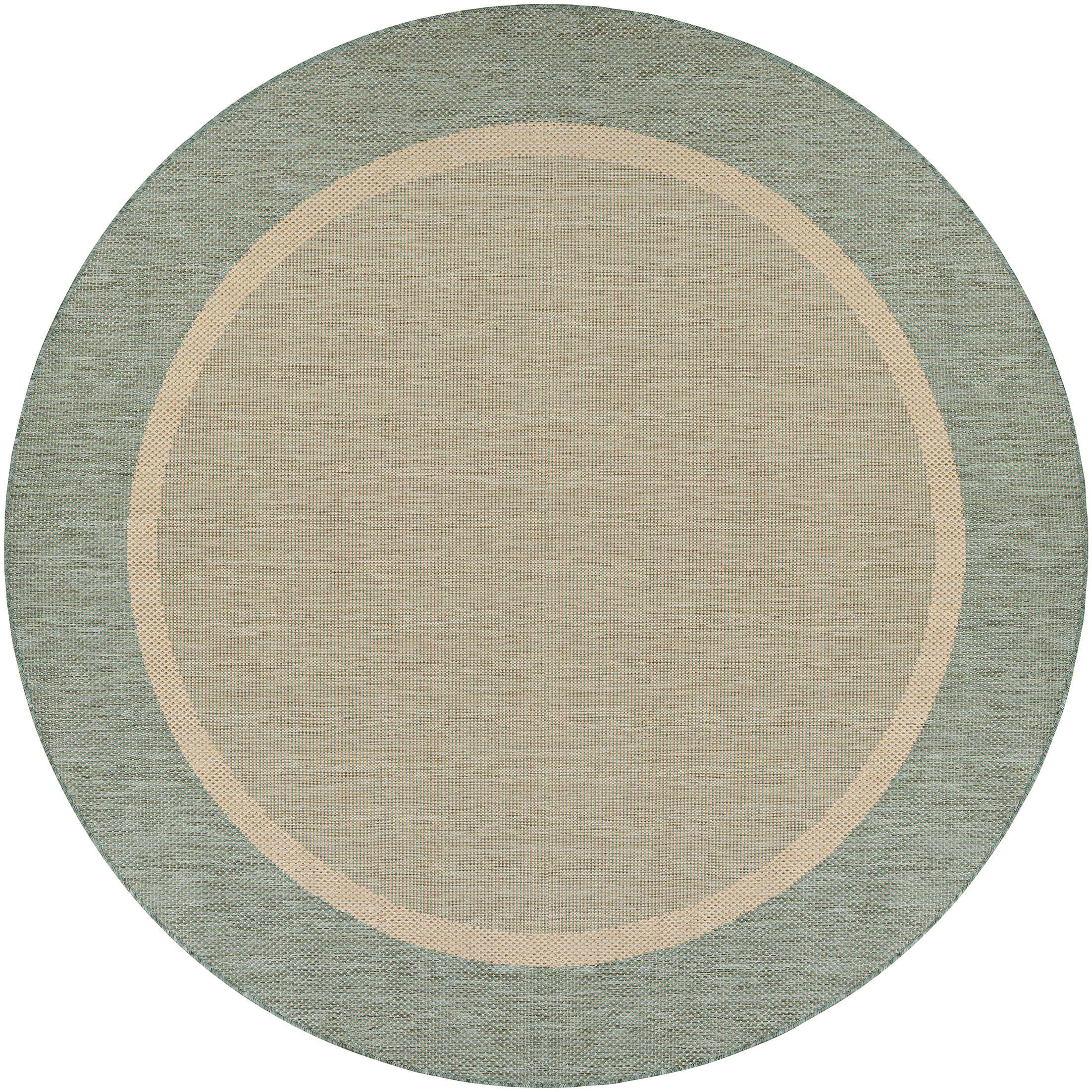 Linden Texture Green/Beige Indoor/Outdoor Area Rug Rug Size: Rectangle 8'6