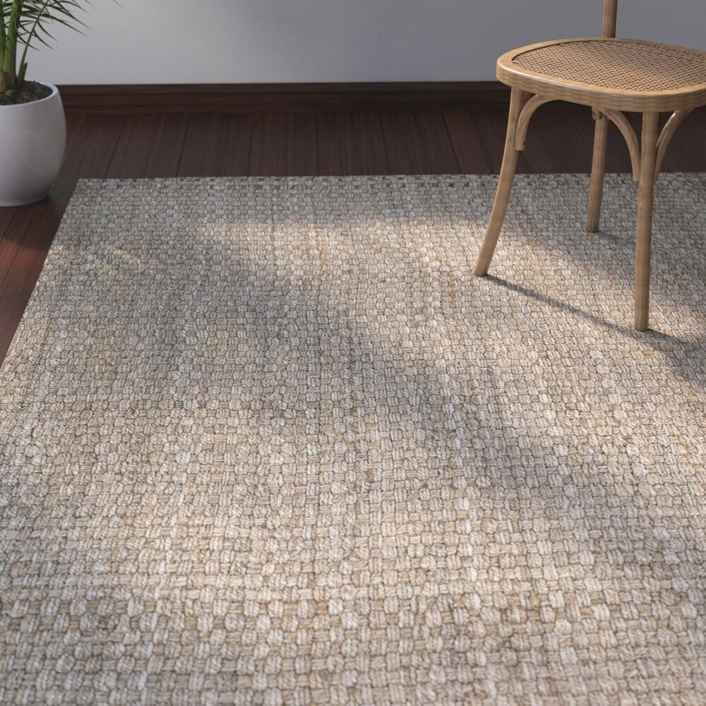 Rose Hand Woven Brown Area Rug Rug Size: Rectangle 4' x 6'