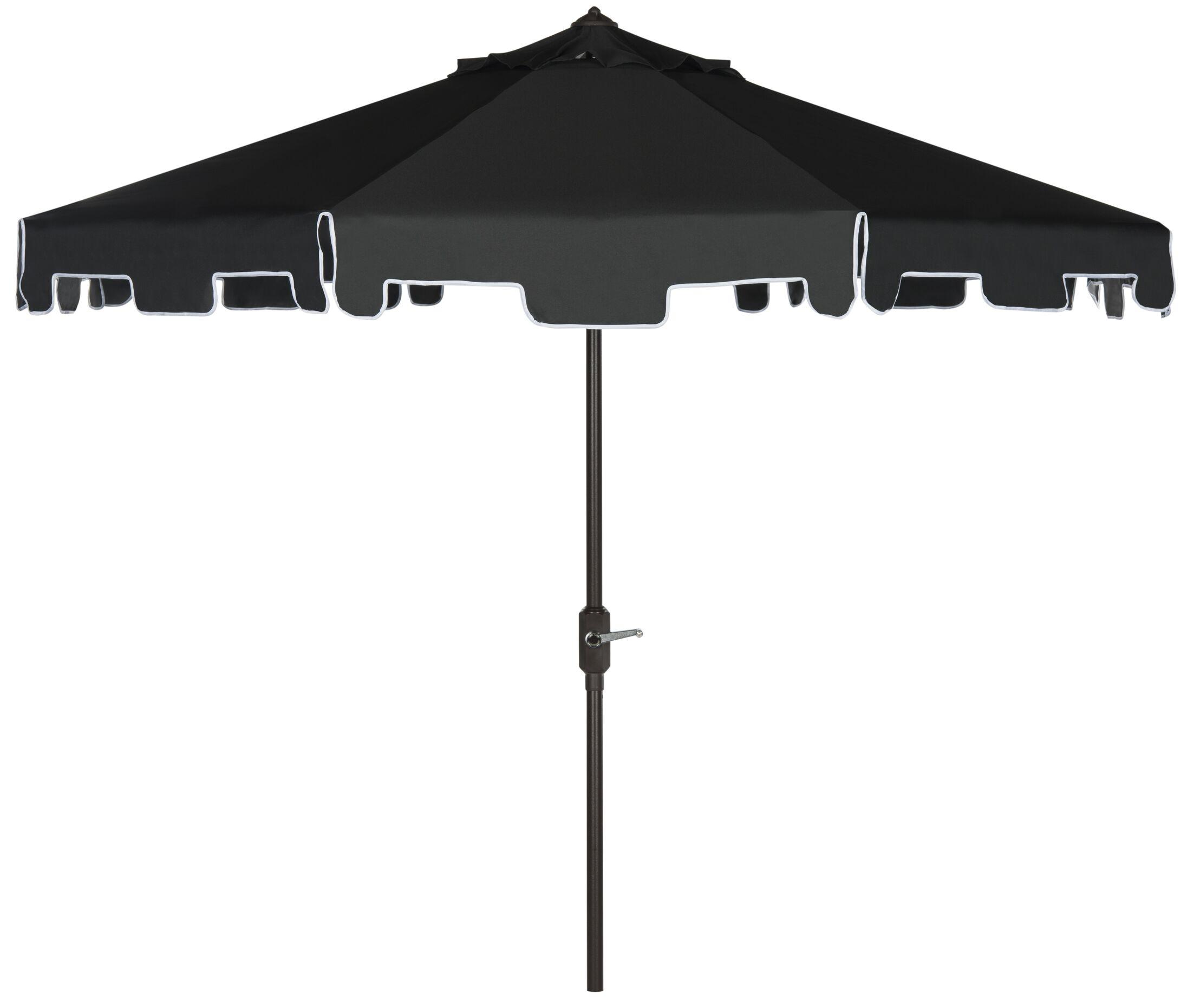Holice 8' Drape Umbrella Fabric: Black