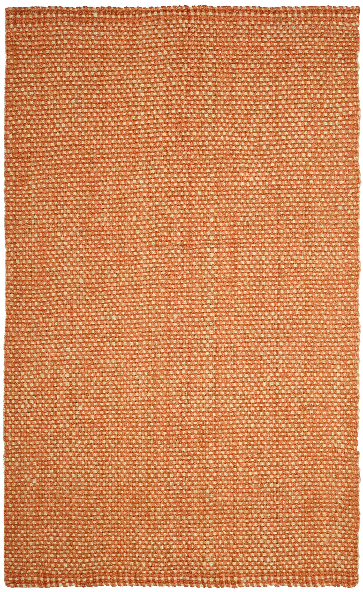 Stantonsburg Hand-Woven Rust/Natural Area Rug Rug Size: Rectangle 5' x 8'