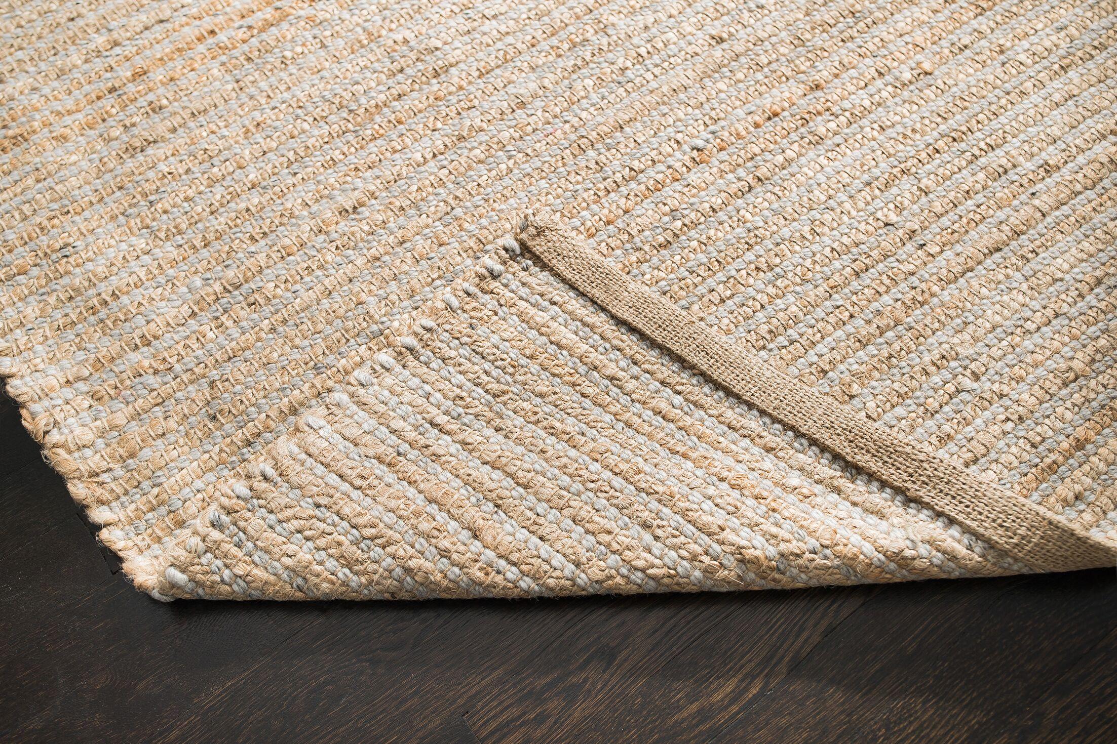 Morton Hand-Woven Gray/Tan Area Rug Rug Size: 5' x 8'