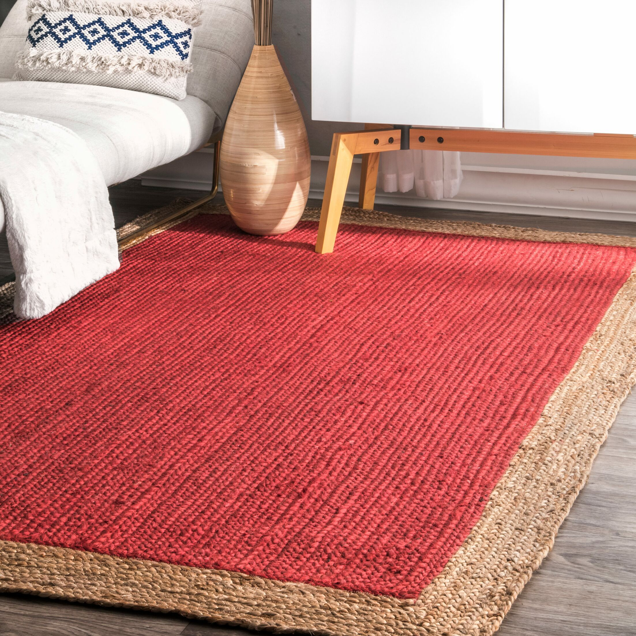 Knox Hand-Woven Red Area Rug Rug Size: Rectangle 5' x 8'