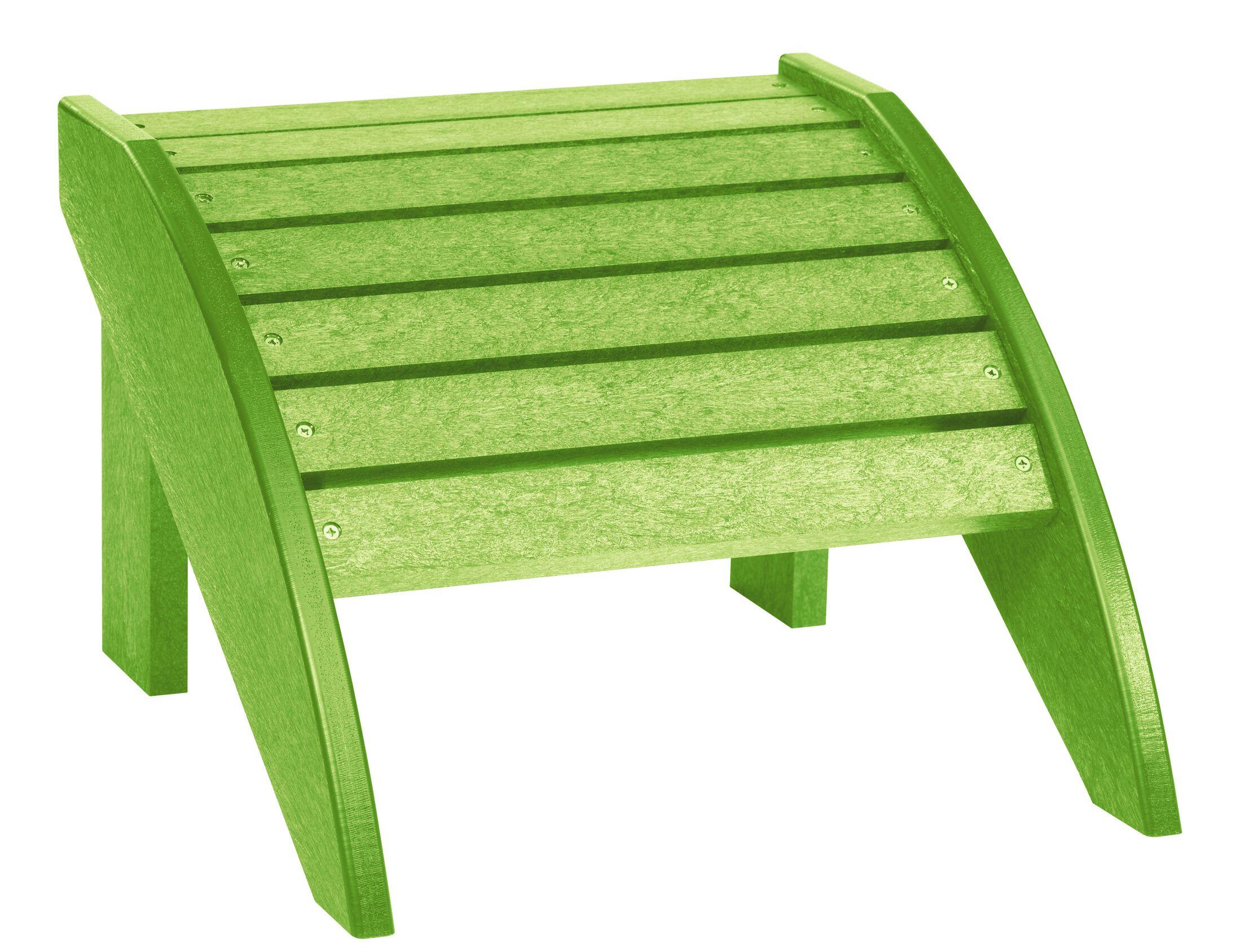 Alanna Adirondack Ottoman Color: Kiwi Green