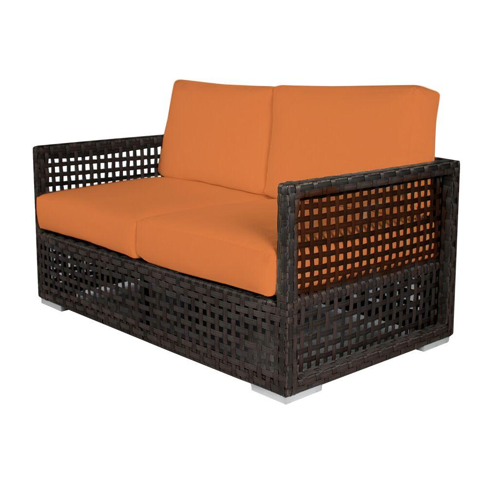 Marianna Loveseat with Cushions Fabric: Sunbrella Tangerine