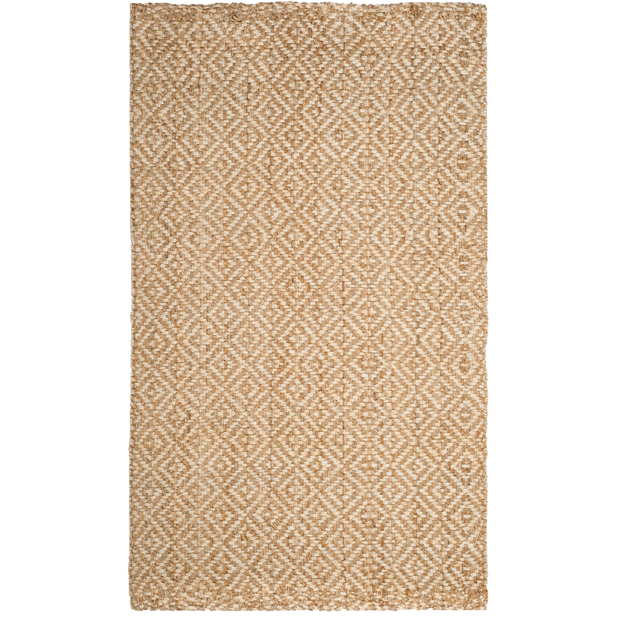 Miliou Hand-Woven Ivory/Natural Area Rug Rug Size: Rectangle 5' x 8'