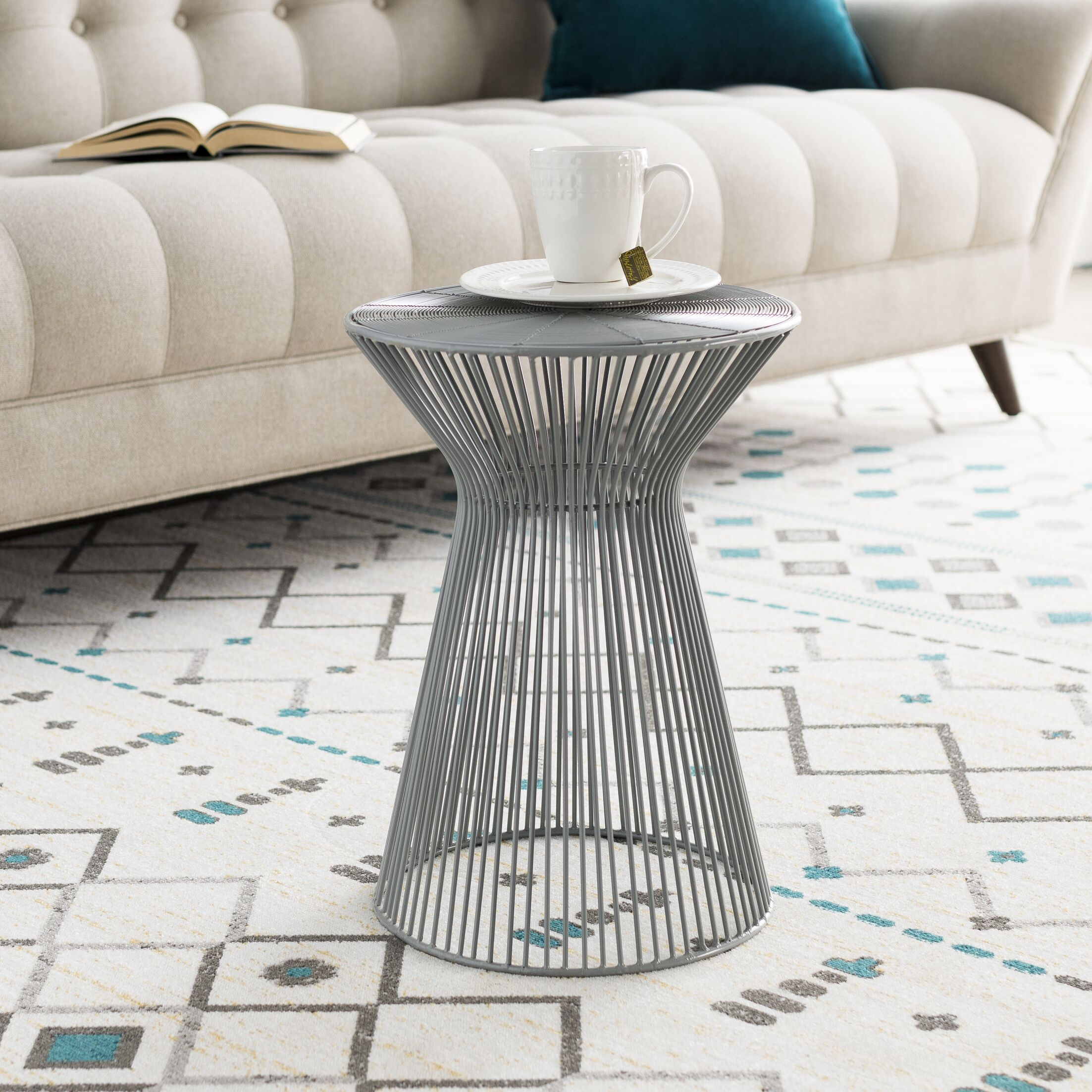 Allshouse End Table Color: Medium Gray