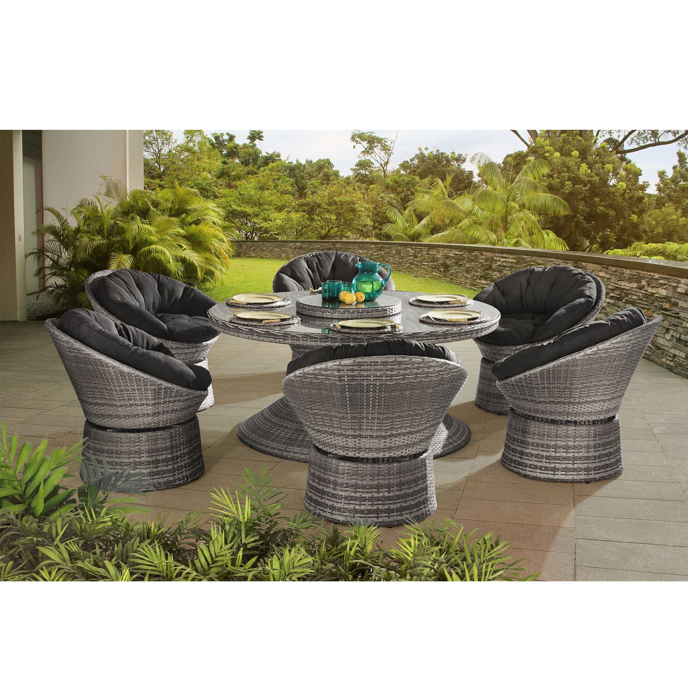Carsten 7 Piece Dining Set with Cushions