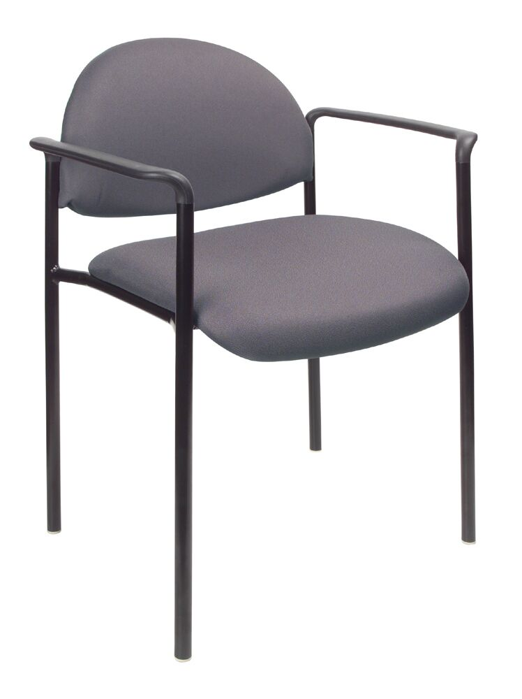 Contemporary Stackable Guest Chair Seat Finish: Gray Fabric, Arms: Without Arms