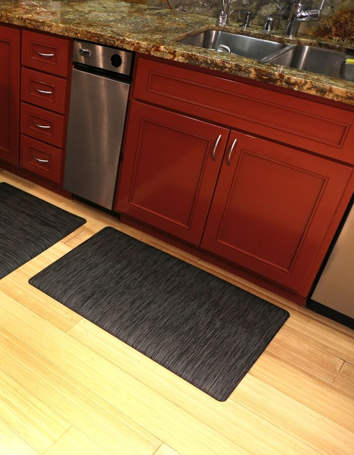 Torrick Comfort Kitchen Mat Mat Size: Rectangle 2' x 6', Color: Charcoal