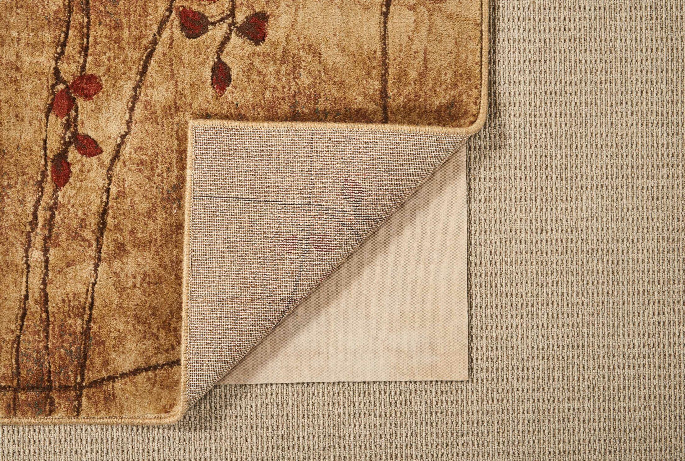 Tan Rug Pad Rug Pad Size: Rectangle 8' x 10'