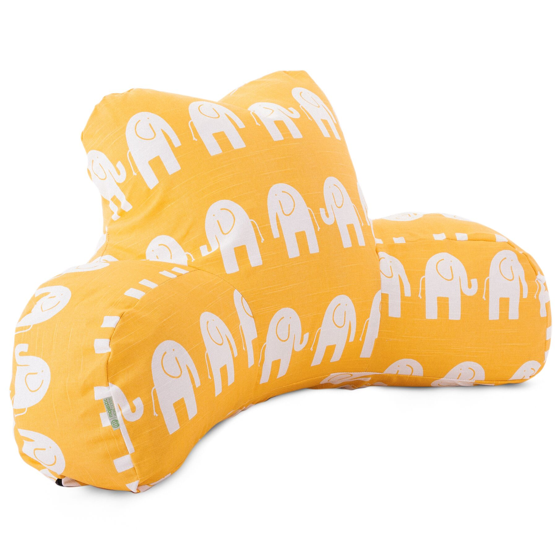Napoleon 100% Cotton Bed Rest Pillow Color: Yellow