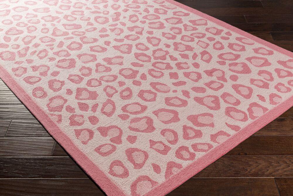 Blake Hand-Hooked Pink Area Rug Rug Size: Rectangle 7'6