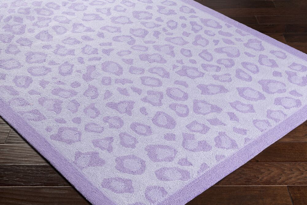 Blake Hand-Hooked Lavender Area Rug Rug Size: Rectangle 5' x 7'6